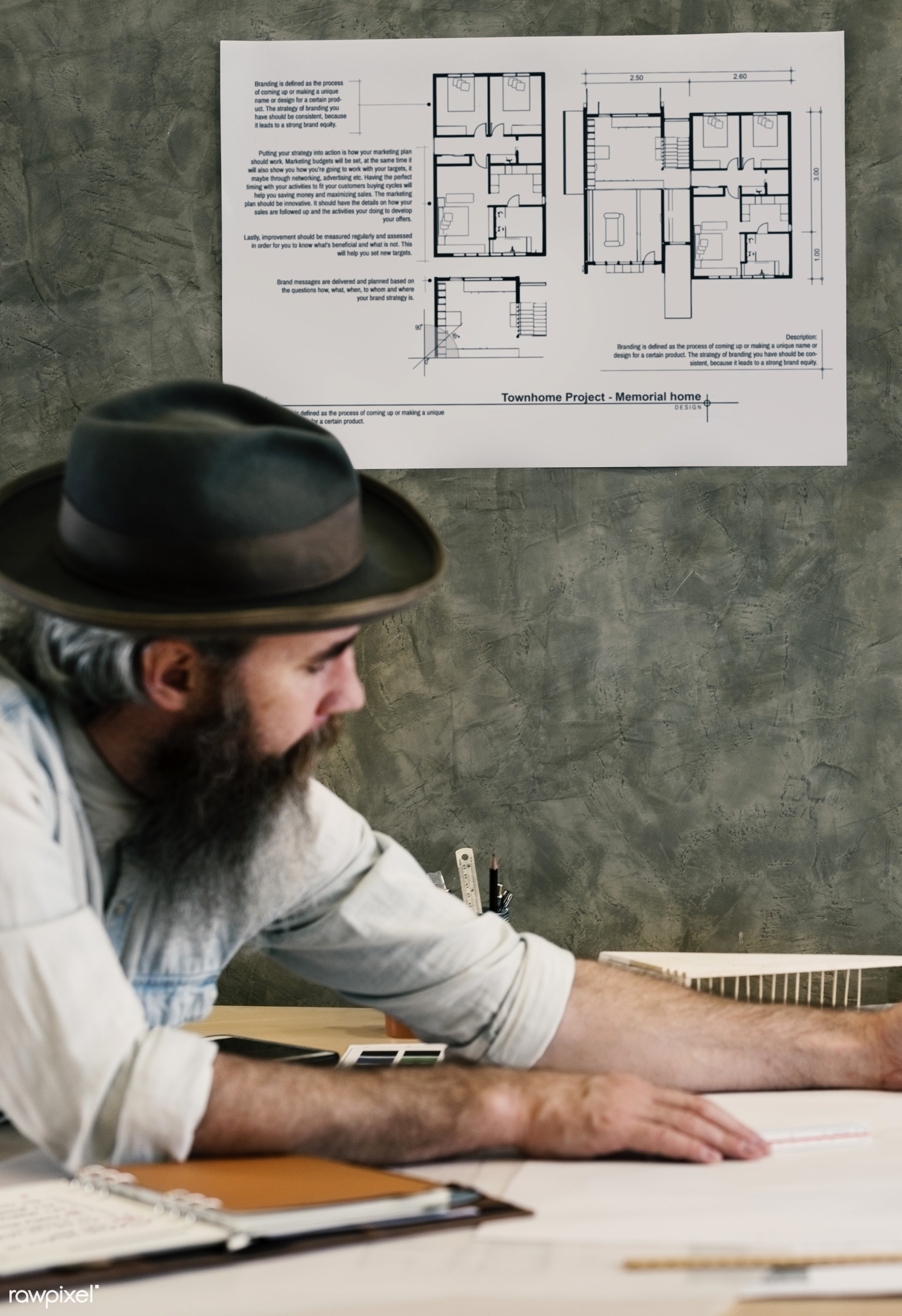 architect, architecture, blueprint, brainstorming, color swatch, creative occupation, creativity, design, design studio,...