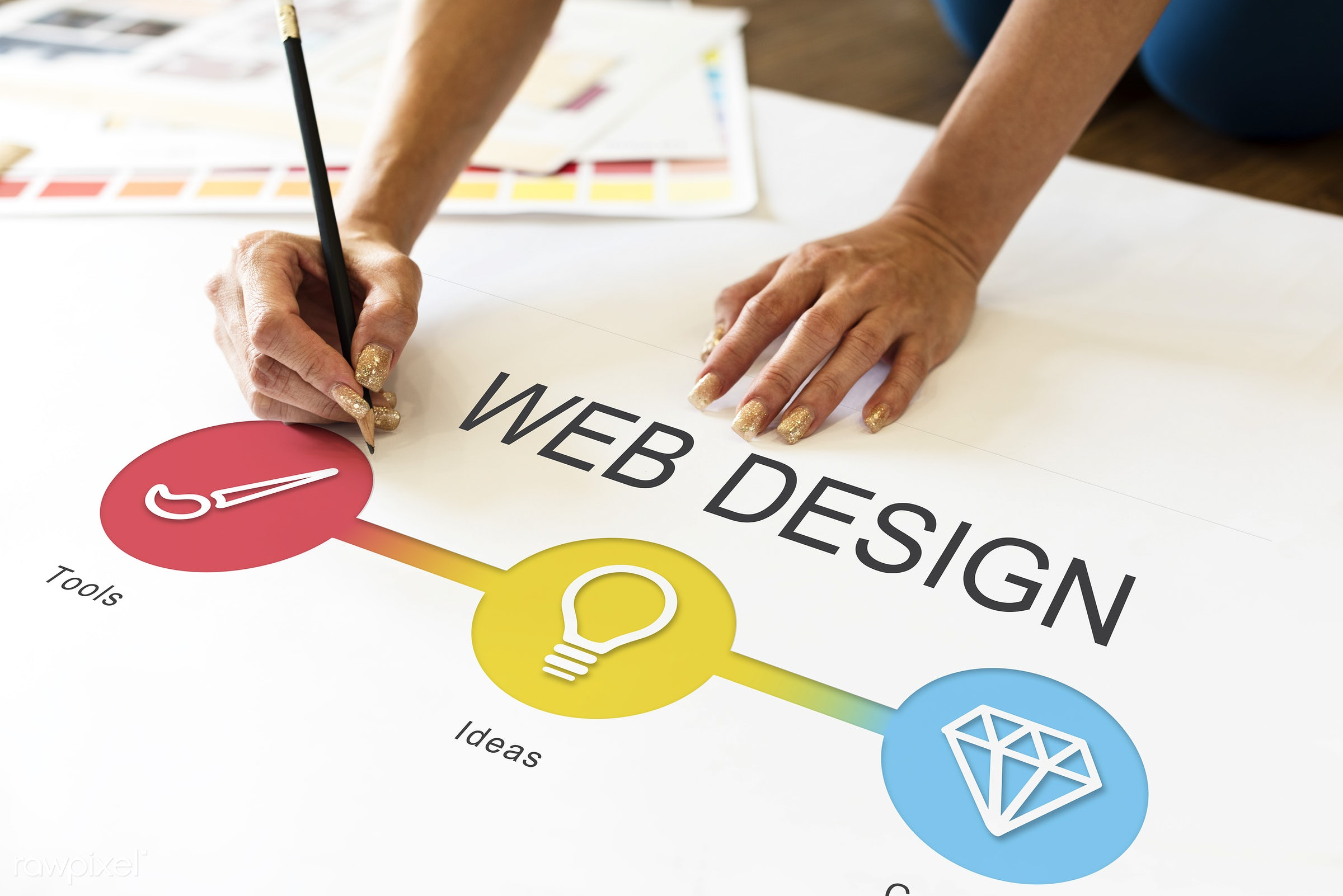 Web design - art, content, creation, creative, creativity, design, development, diagram, diamond, digital, drawing, graphic...