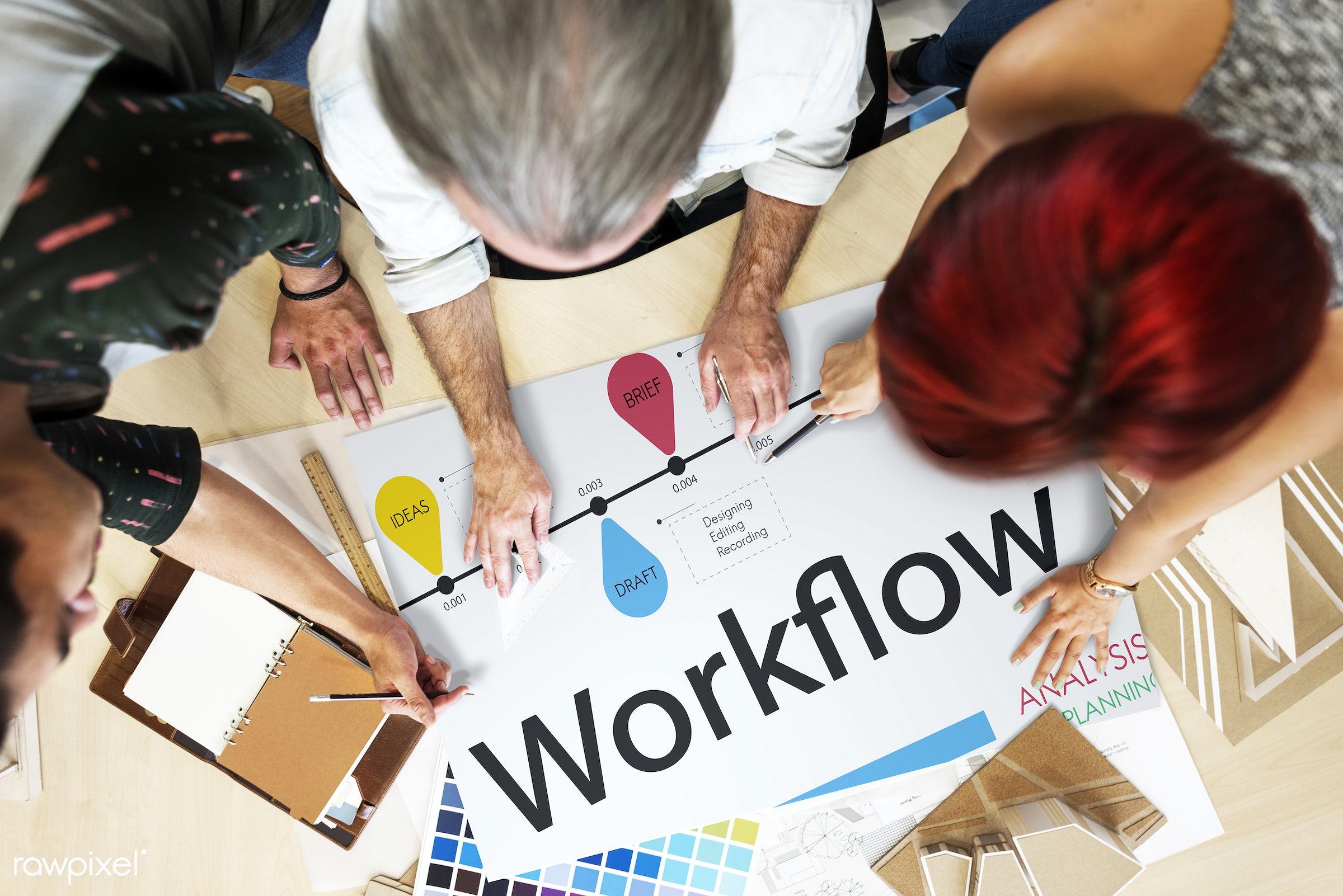 action, analysis, art, brief, budget, business, color chart, colors, company, deadline, design, development, discussion,...