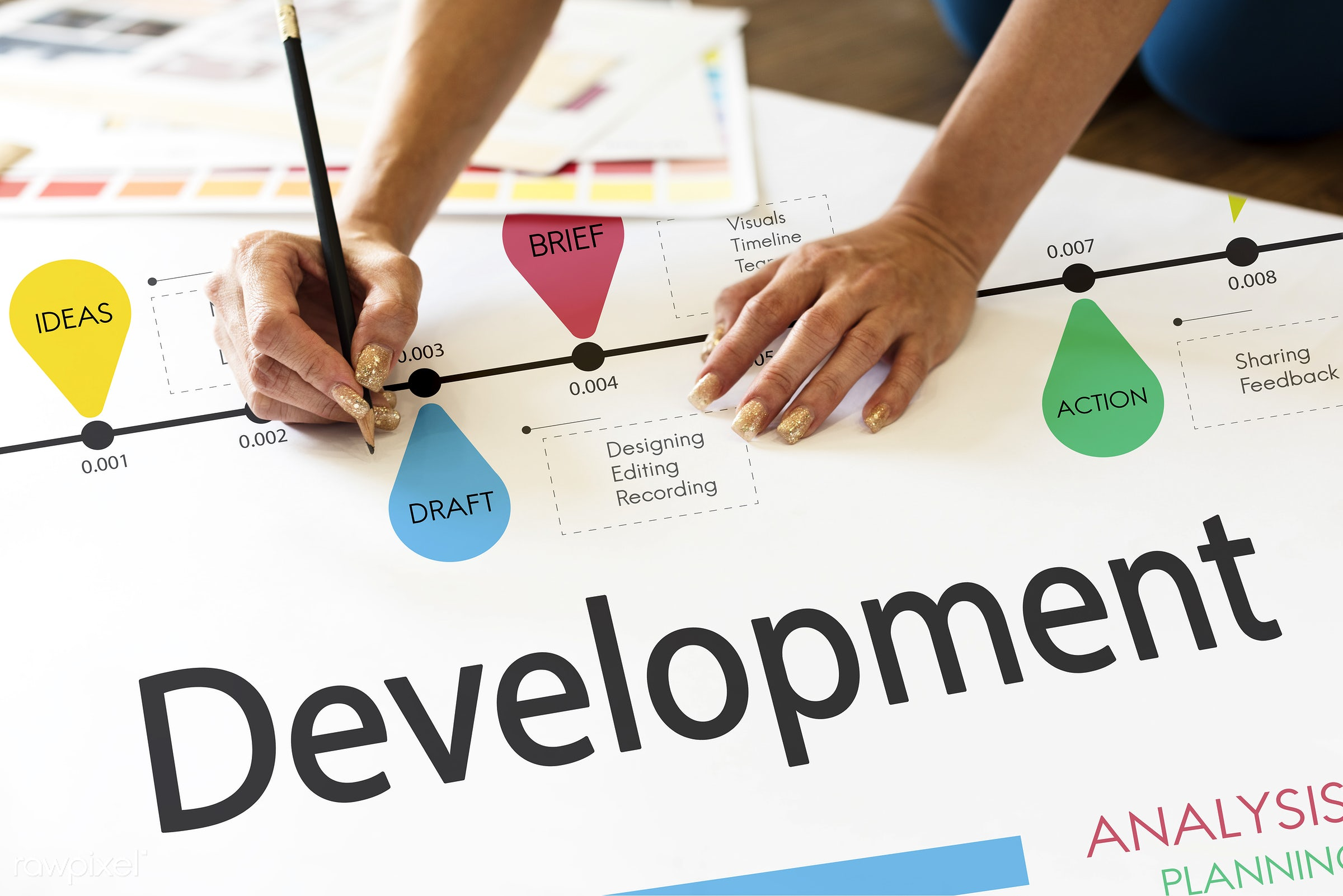 action, analysis, art, brief, budget, business, company, creation, creative, creativity, deadline, design, development,...