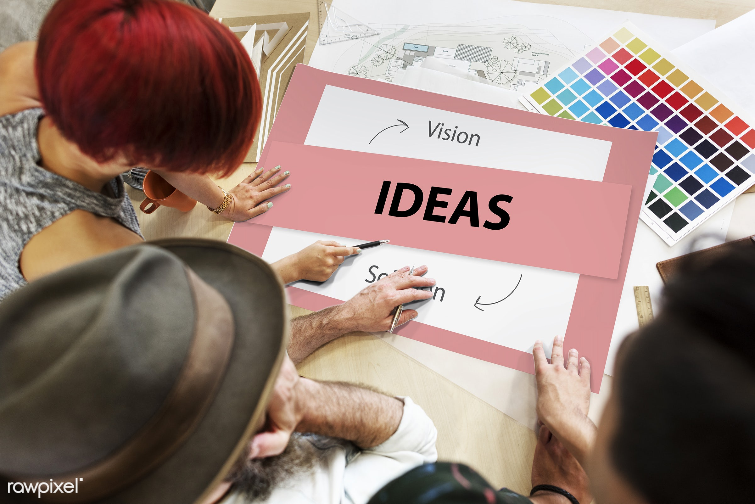 action, art, be, brainstorming, business, color chart, colors, creative, creativity, design, discussion, female, fresh,...