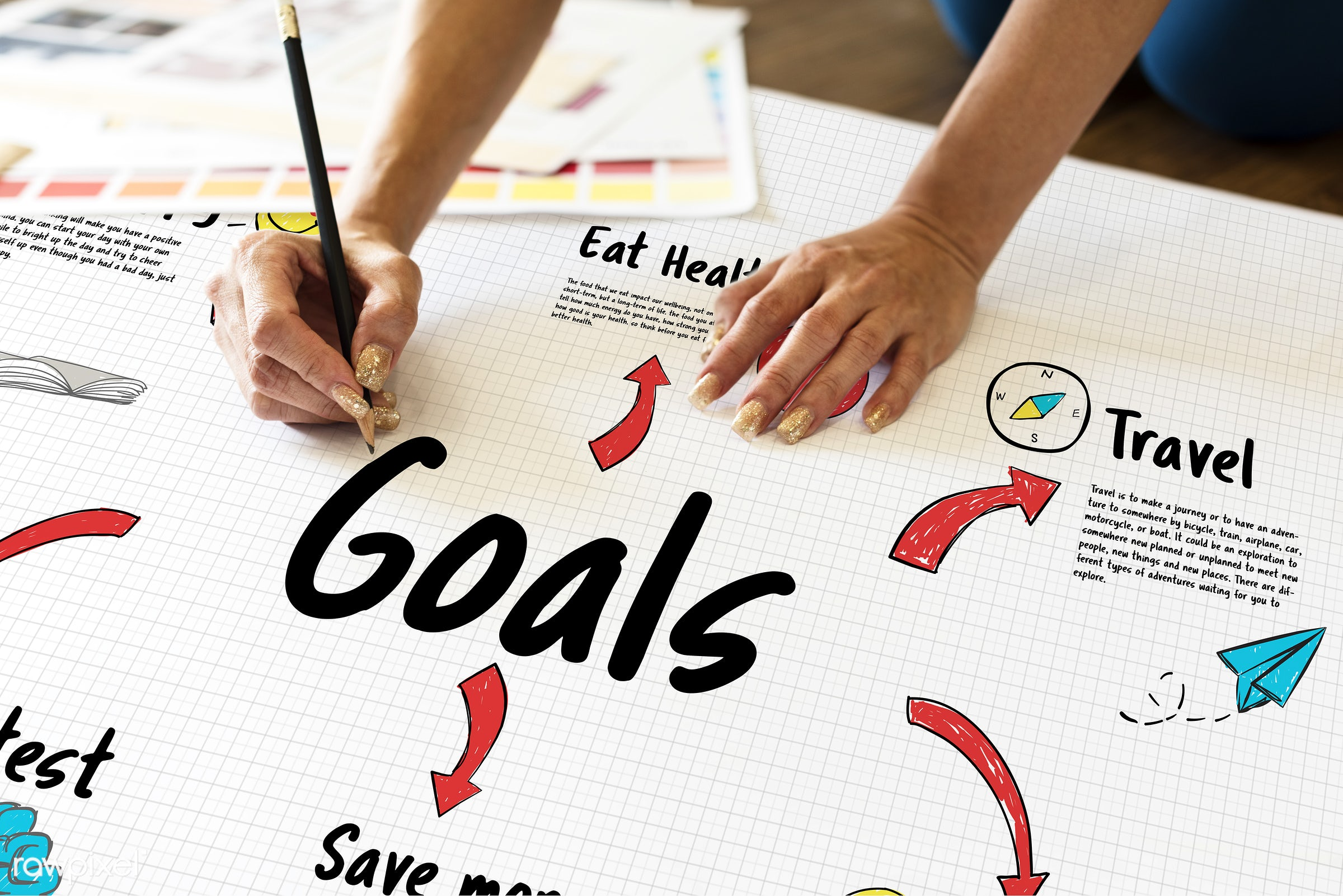 achieve, aim, art, beginning, creation, creative, creativity, design, diagram, drawing, eat, goals, graphic, hands, happy,...