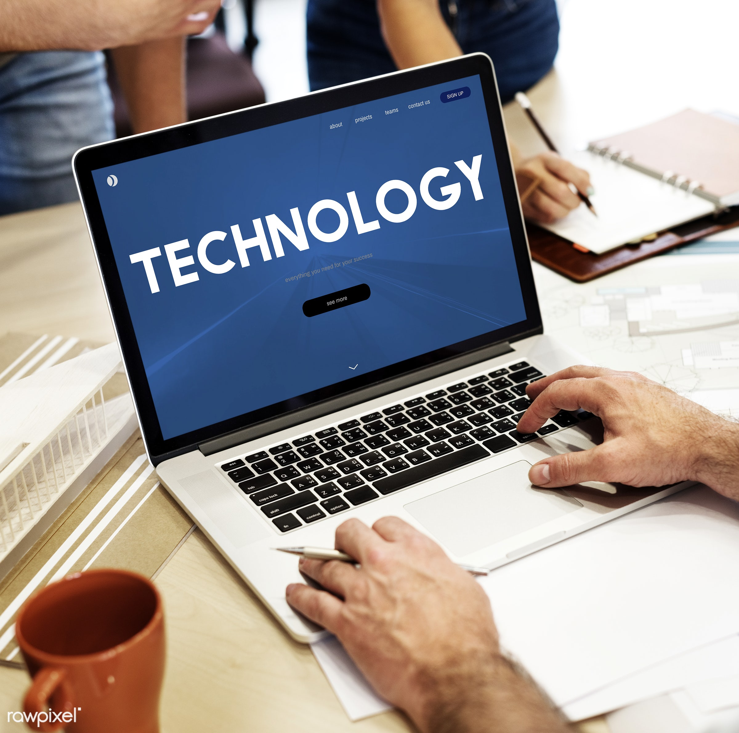 Online technology - advanced technology, architect, architecture, art, blueprint, coffee, coffee cup, cup, data, design,...