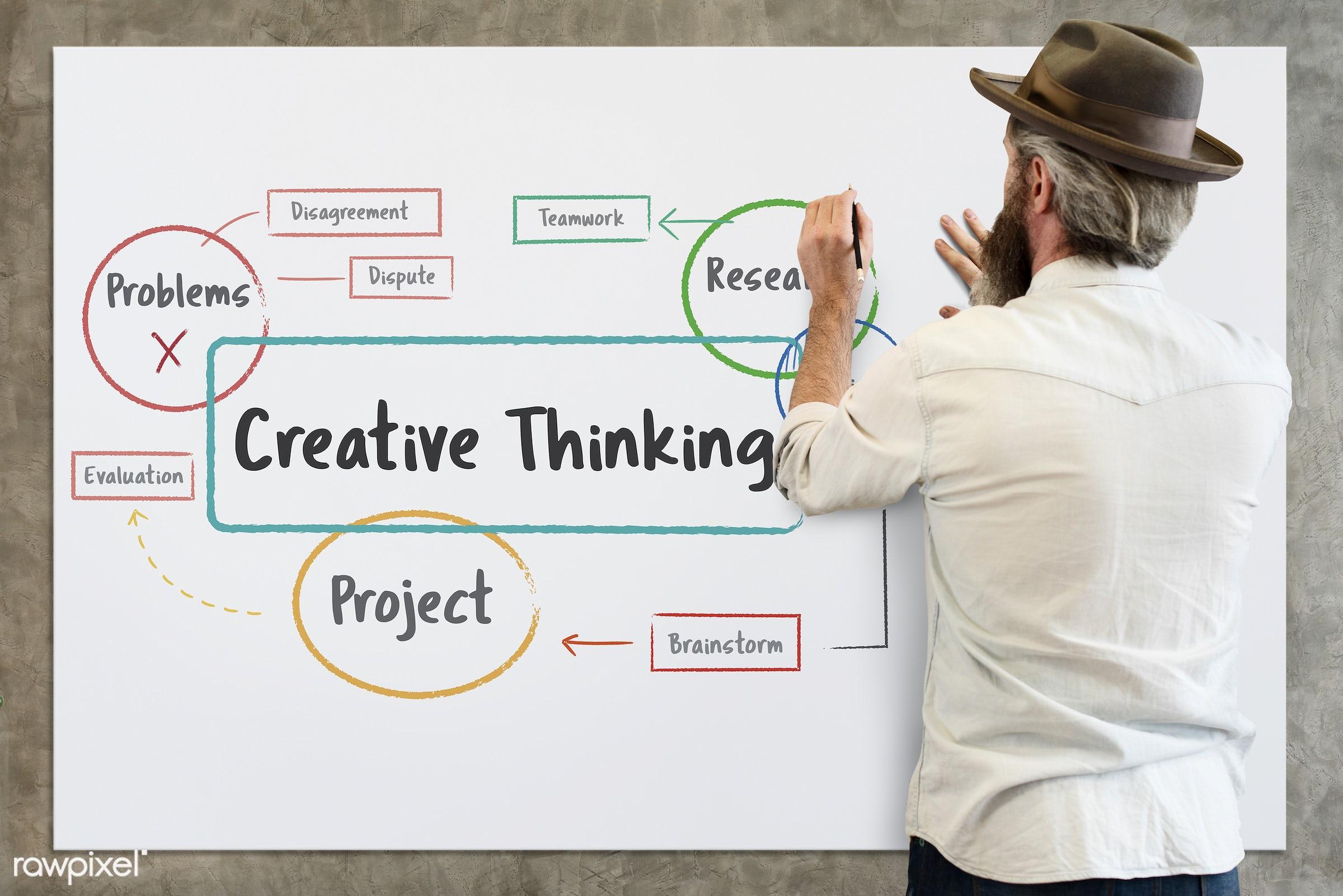 adult, alone, back, be, be creative, beard, beard guy, board, brainstorm, carefree, casual, chill, create, creative,...