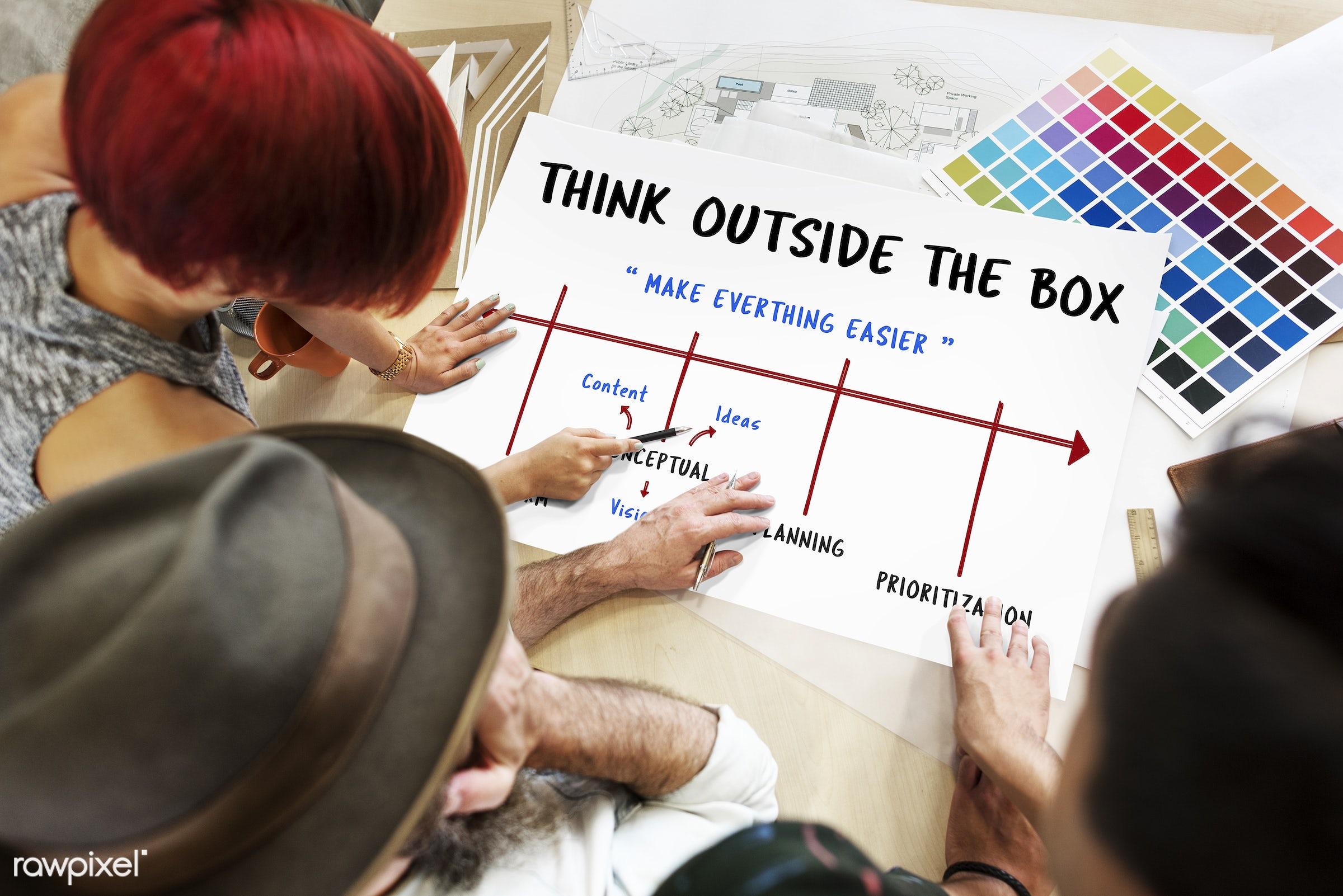 art, brainstorm, chart, color chart, colors, communication, connection, creative, creativity, design, discussion, female,...