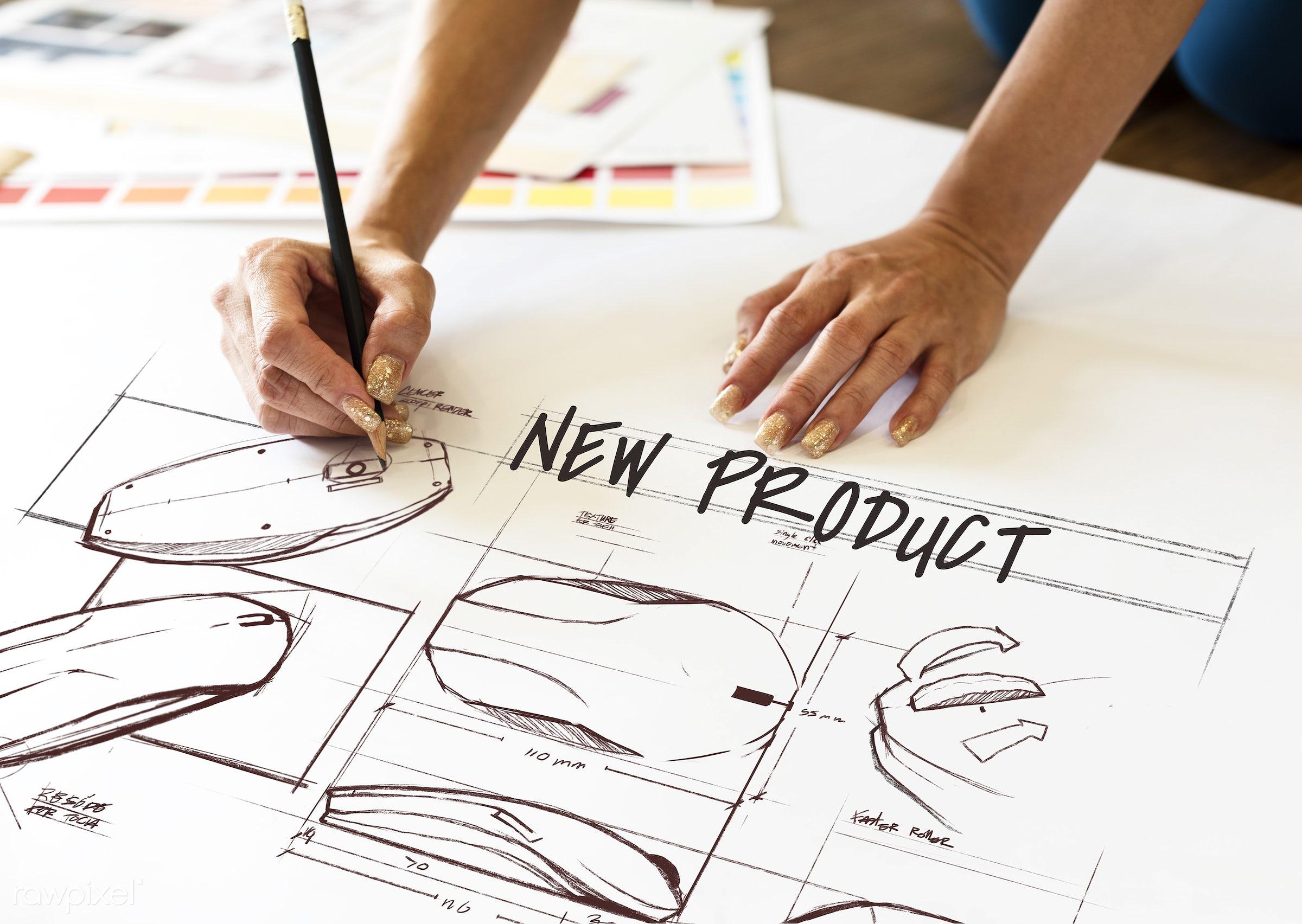 art, brainstorming, commercialization, computer mouse, concept, creation, creative, creativity, design, development, drawing...