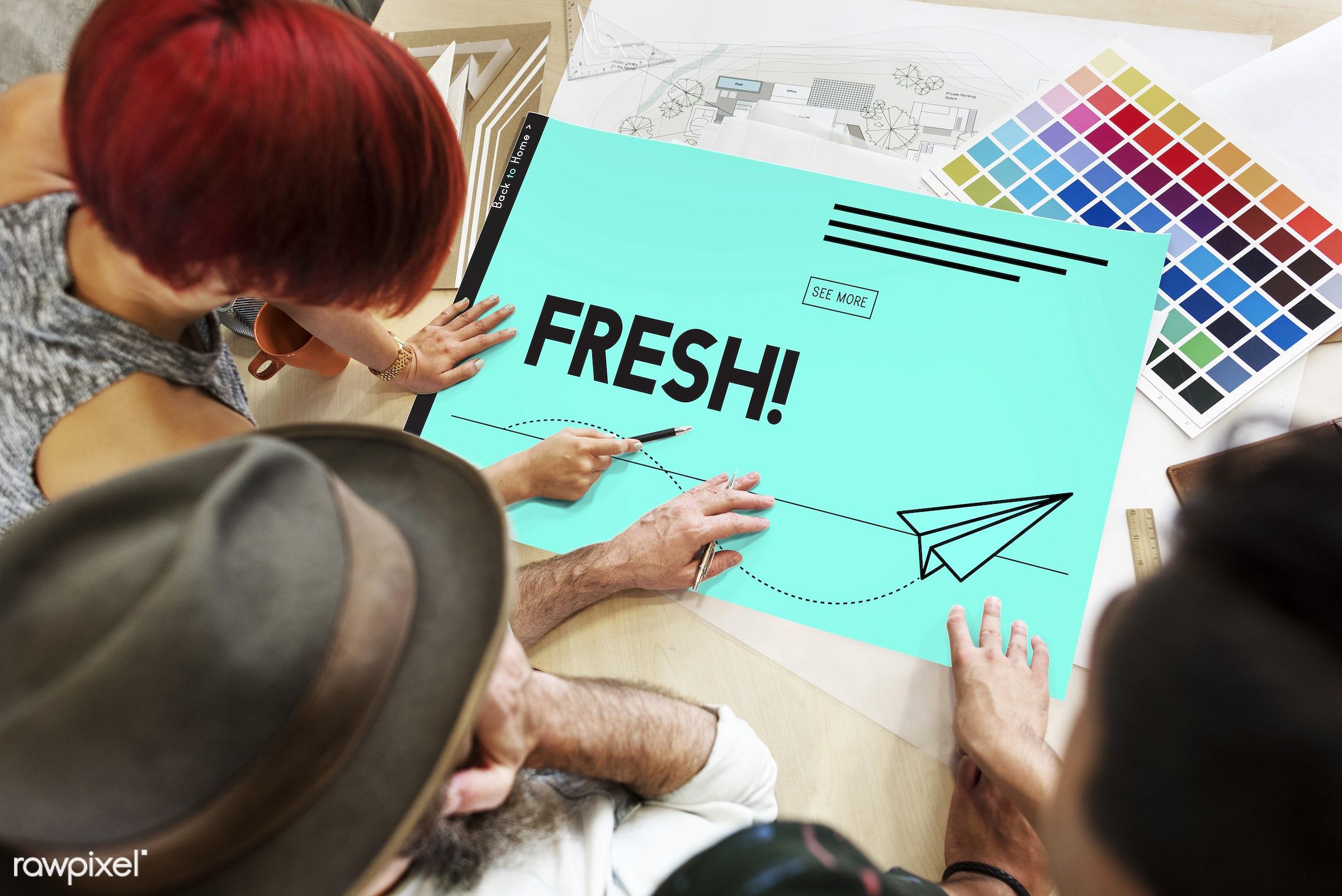 aeroplane, art, color chart, colors, creative, creativity, design, digital, discussion, female, fresh, graphic, green, hands...