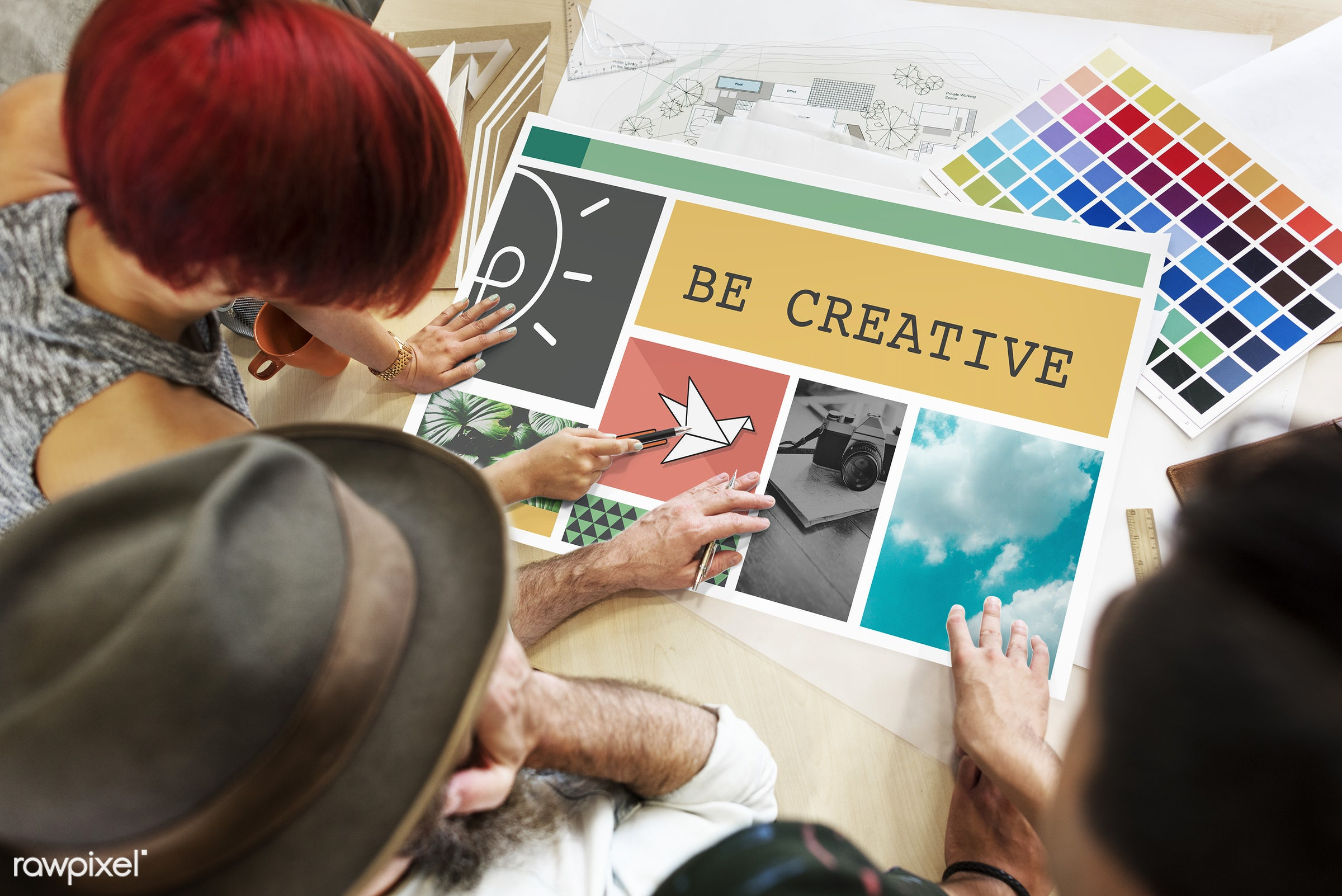 achieve, art, be, business, color chart, colors, creative, creativity, design, discussion, female, freedom, fresh, graphic,...