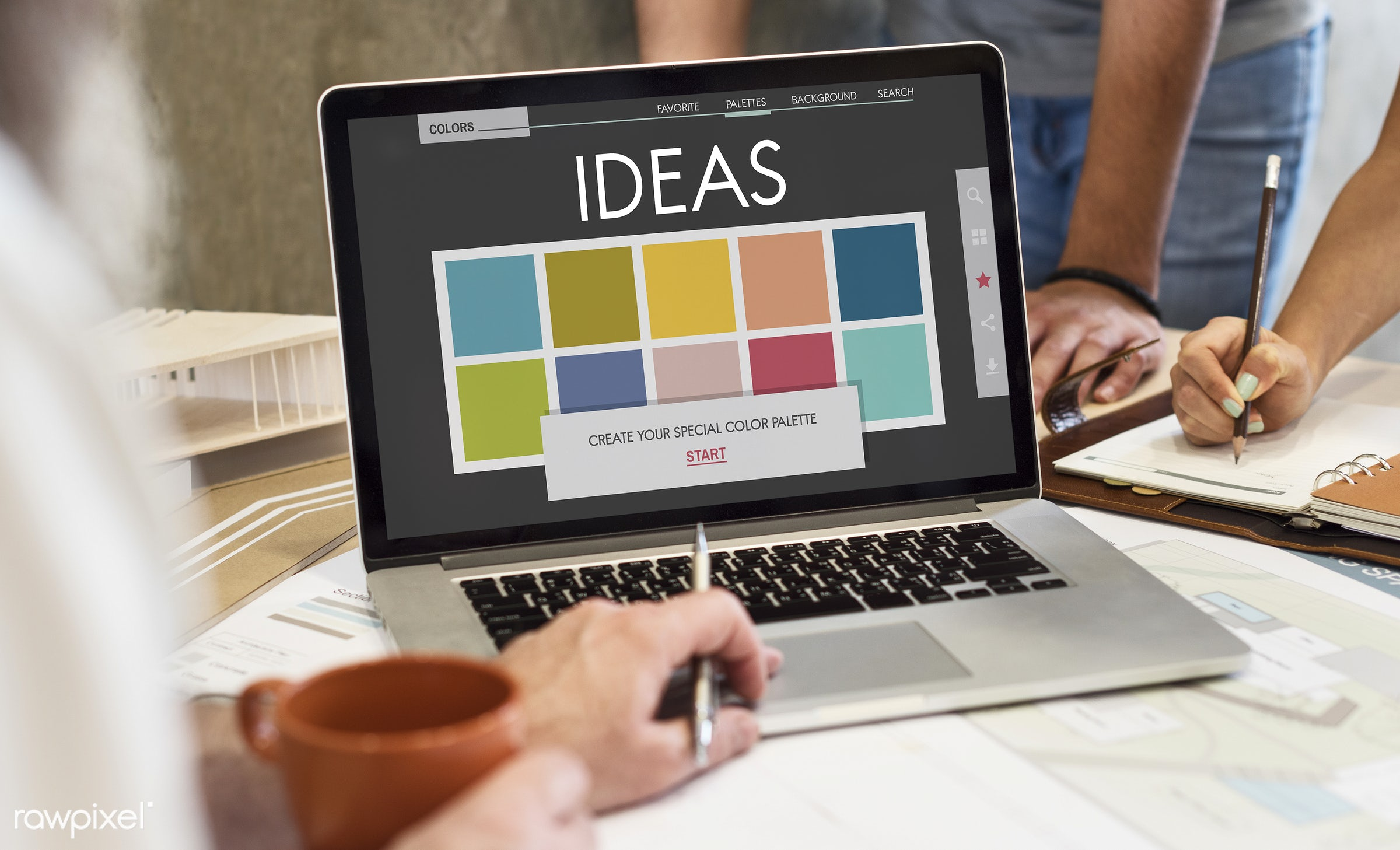 Ideas brainstorming - architect, architecture, art, be creative, brainstorming, business, catalog, chart, coffee, coffee cup...