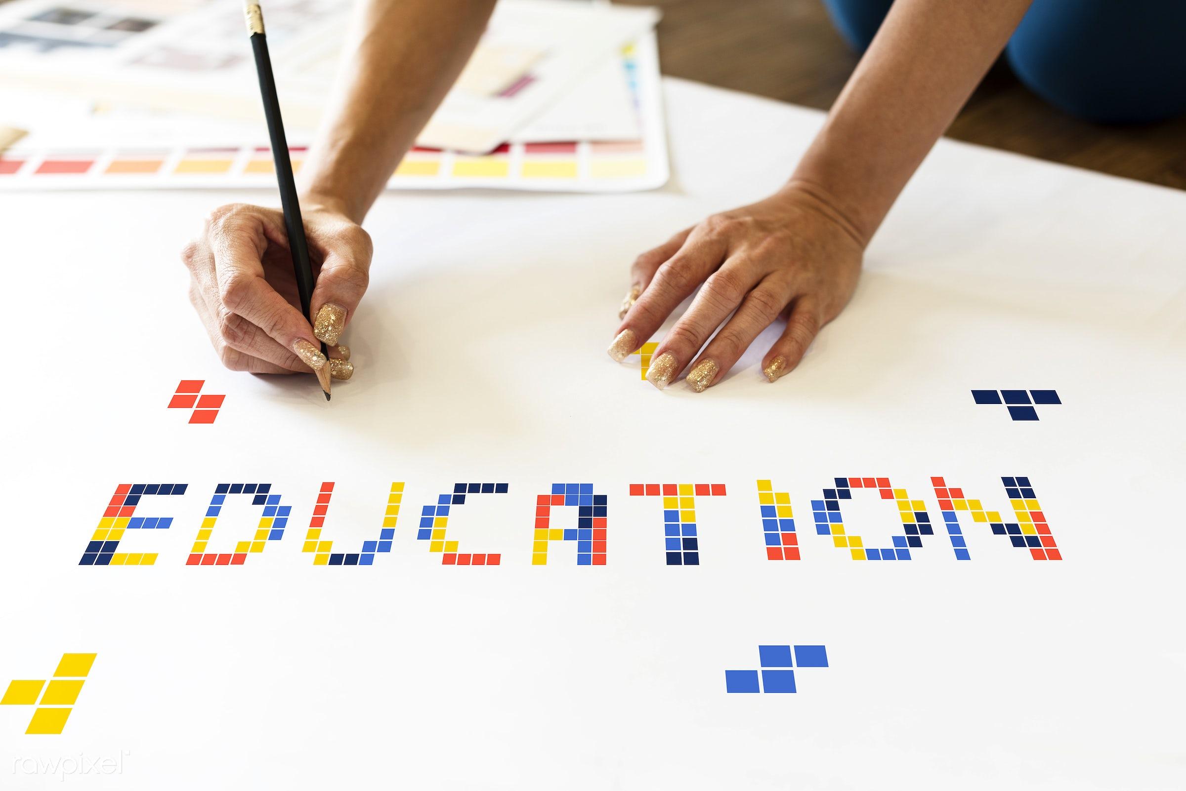8 bit, academics, art, block, creation, creative, creativity, design, drawing, education, game, graphic, hands, ideas,...