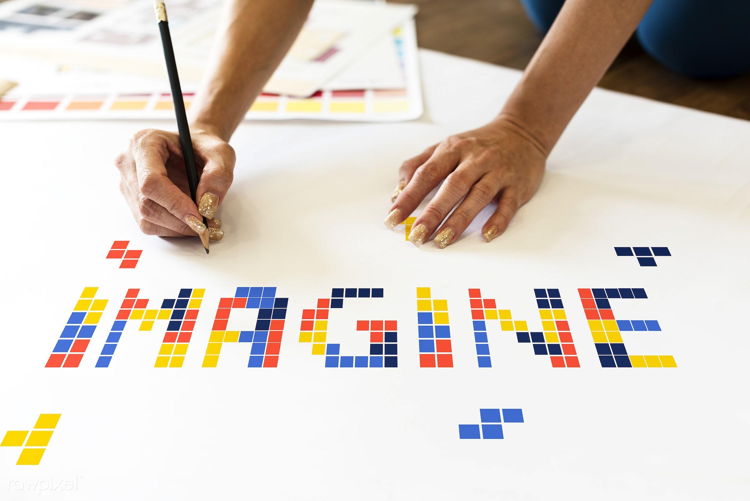 8 bit, art, artistry, block, creation, creative, creativity, design, drawing, game, graphic, graphics, hands, ideas,...