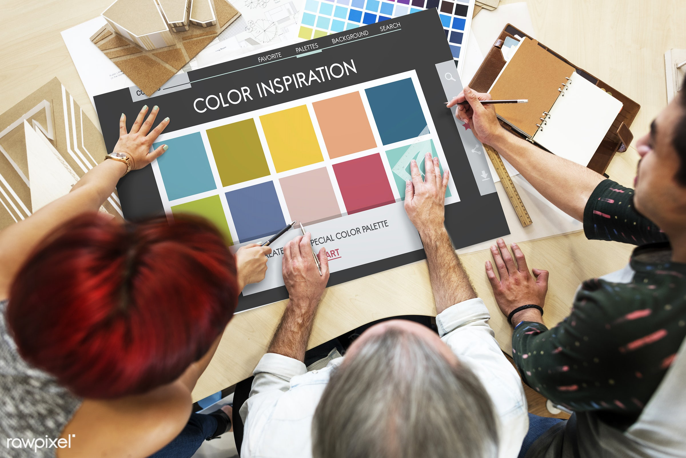 Designers planning together - chart, art, be creative, catalog, color, color chart, color inspiration, colorful, coloring,...