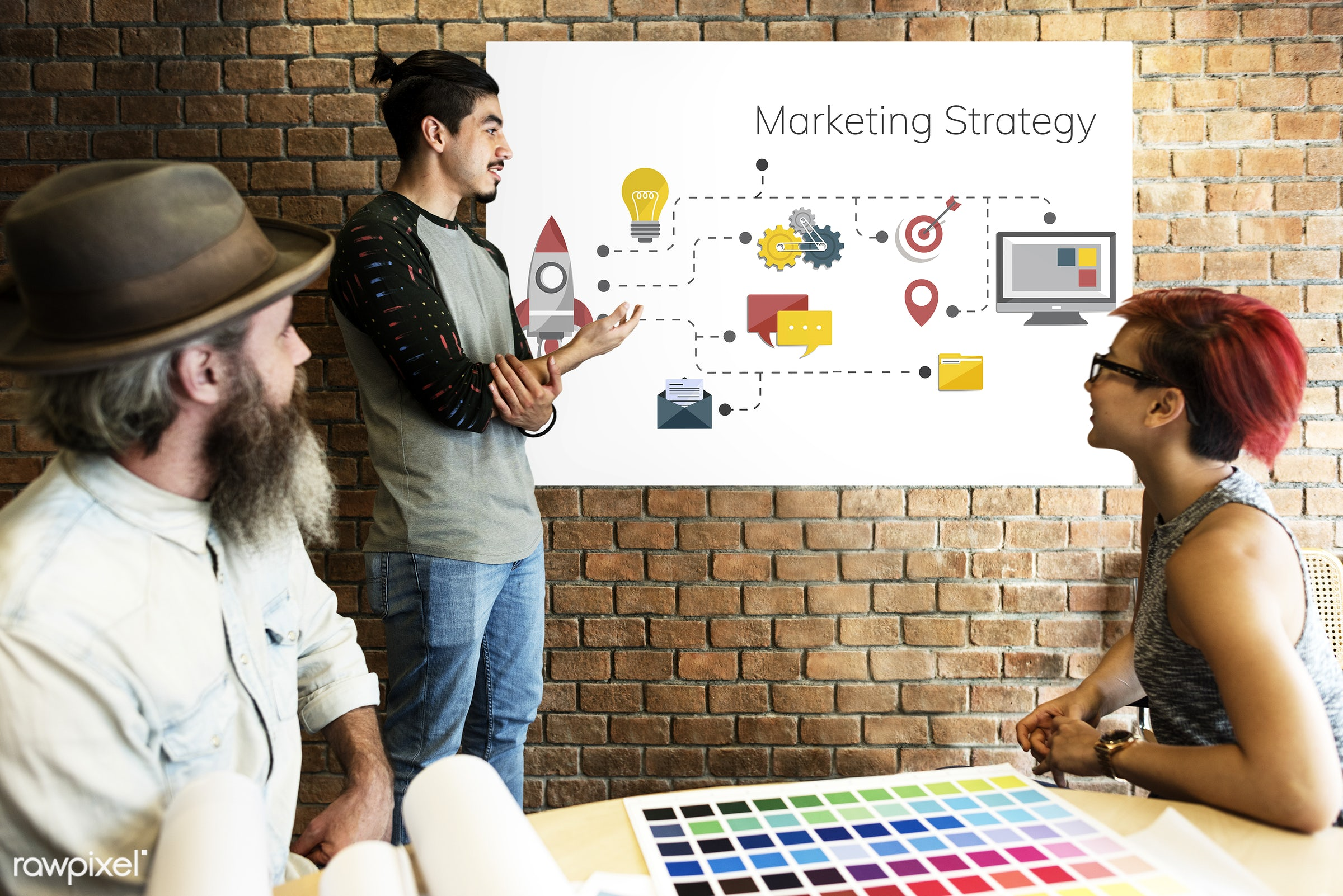 action, art, beard, board, brick wall, business, chart, color chart, colors, communication, company, design, diagram,...