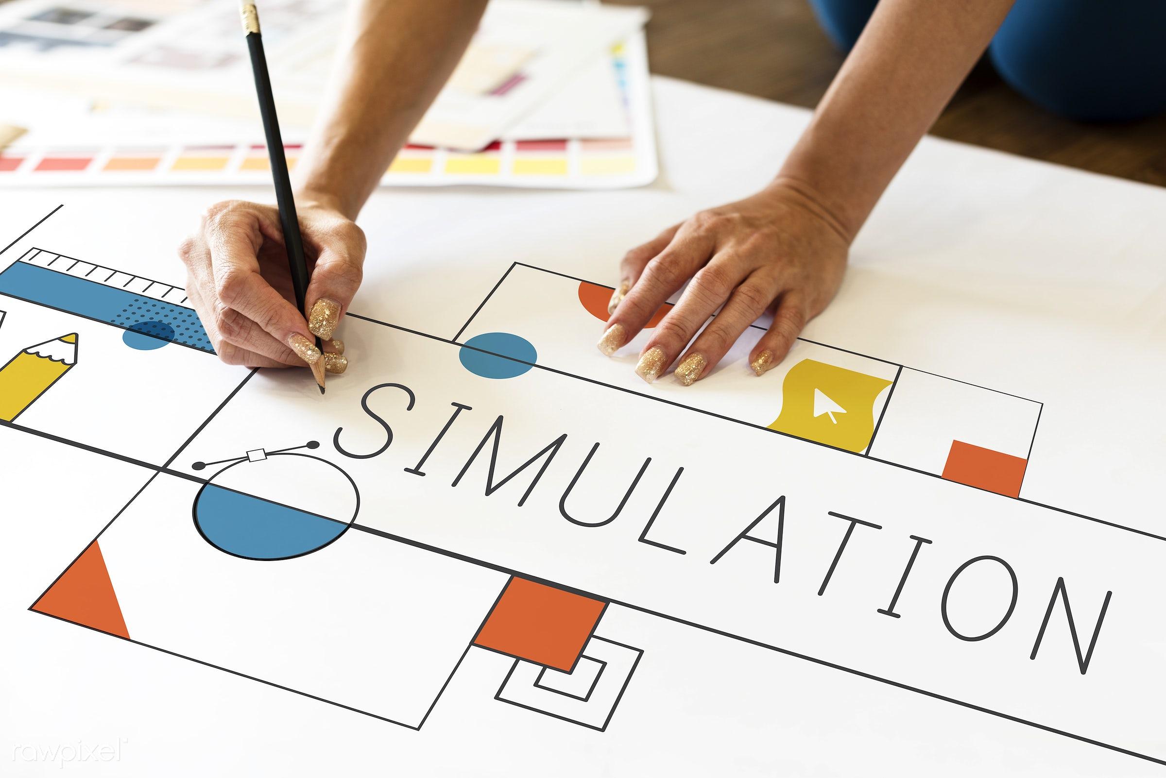 simulation, art, configuration, content, creation, creative, creativity, design, digital, drawing, graphic, graphics, hands...
