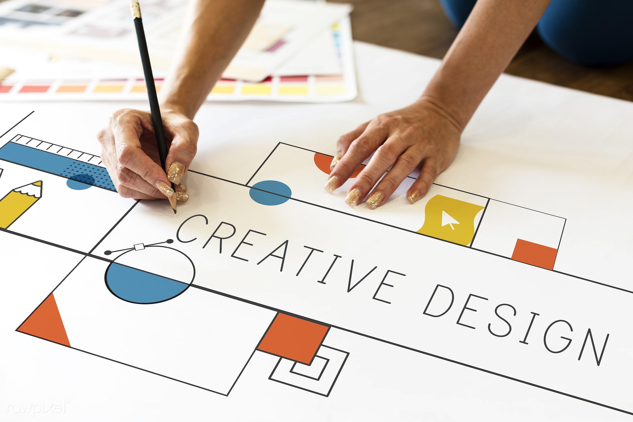 Creative design - creative, media, smart, art, configuration, content, creation, creativity, design, digital, drawing,...