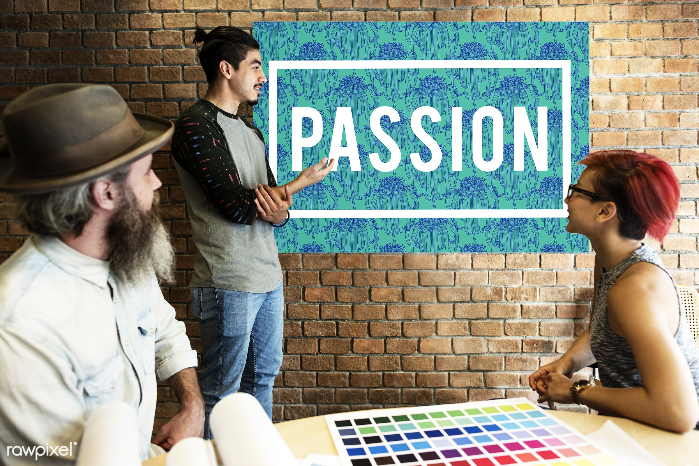 art, beard, board, brick wall, chart, color chart, colors, dedicated, design, determined, discussion, drive, eager, emotion...