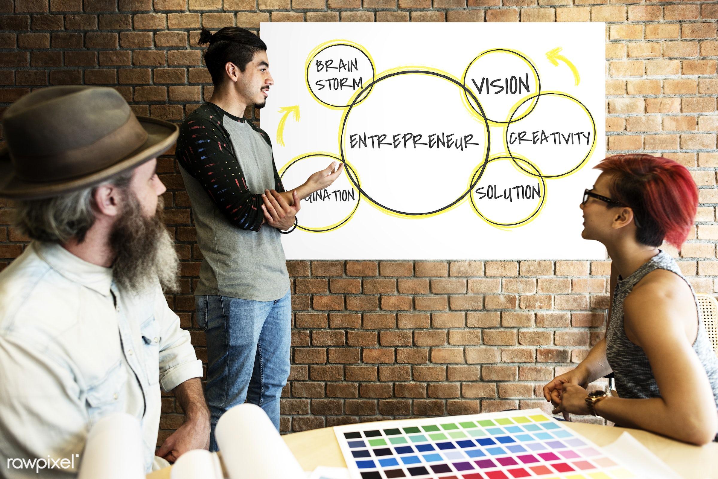 art, beard, board, brainstorm, brick wall, business, chart, color chart, colors, creative, design, development, diagram,...