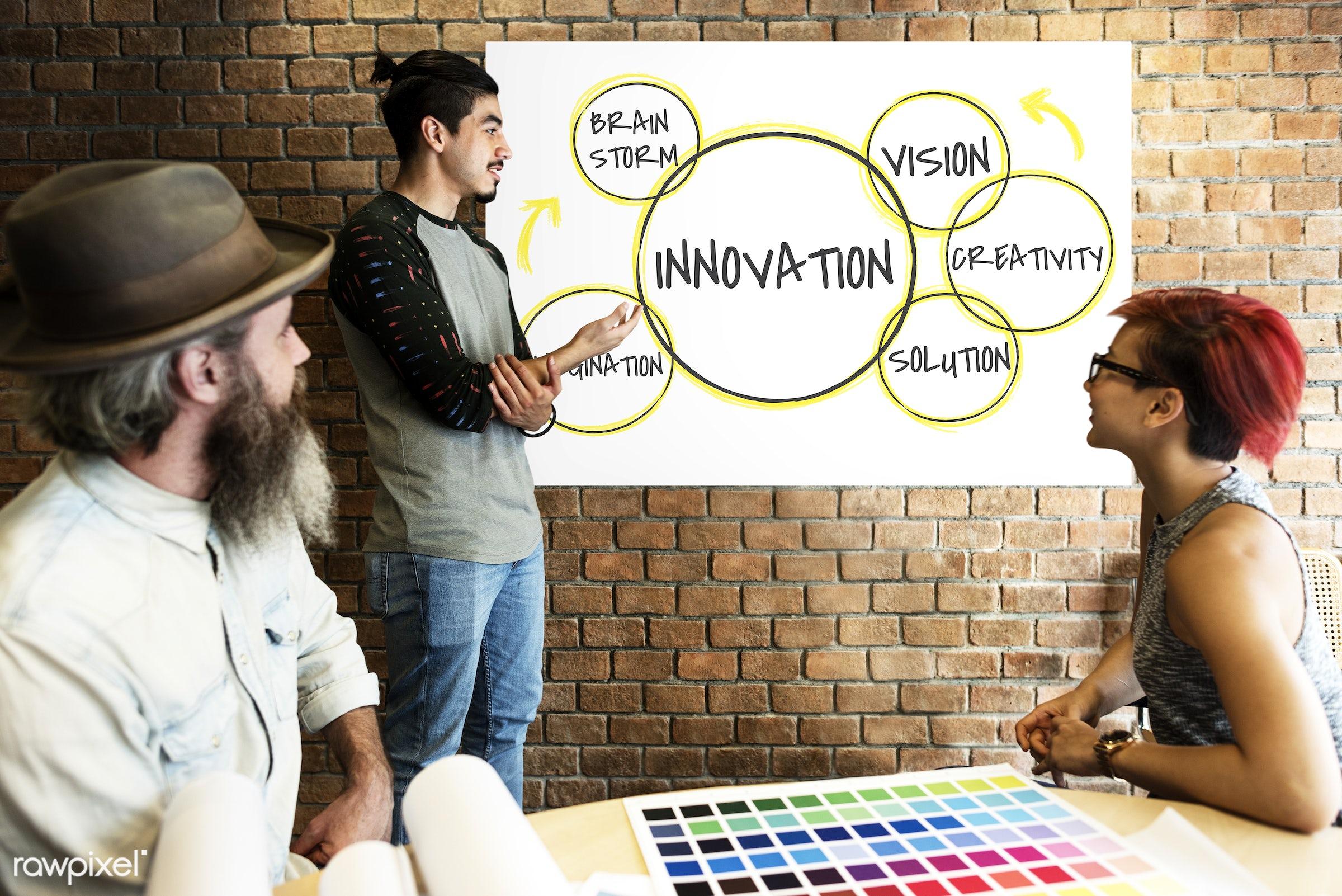 art, beard, board, brainstorm, brick wall, chart, color chart, colors, creative, creativity, design, development, diagram,...