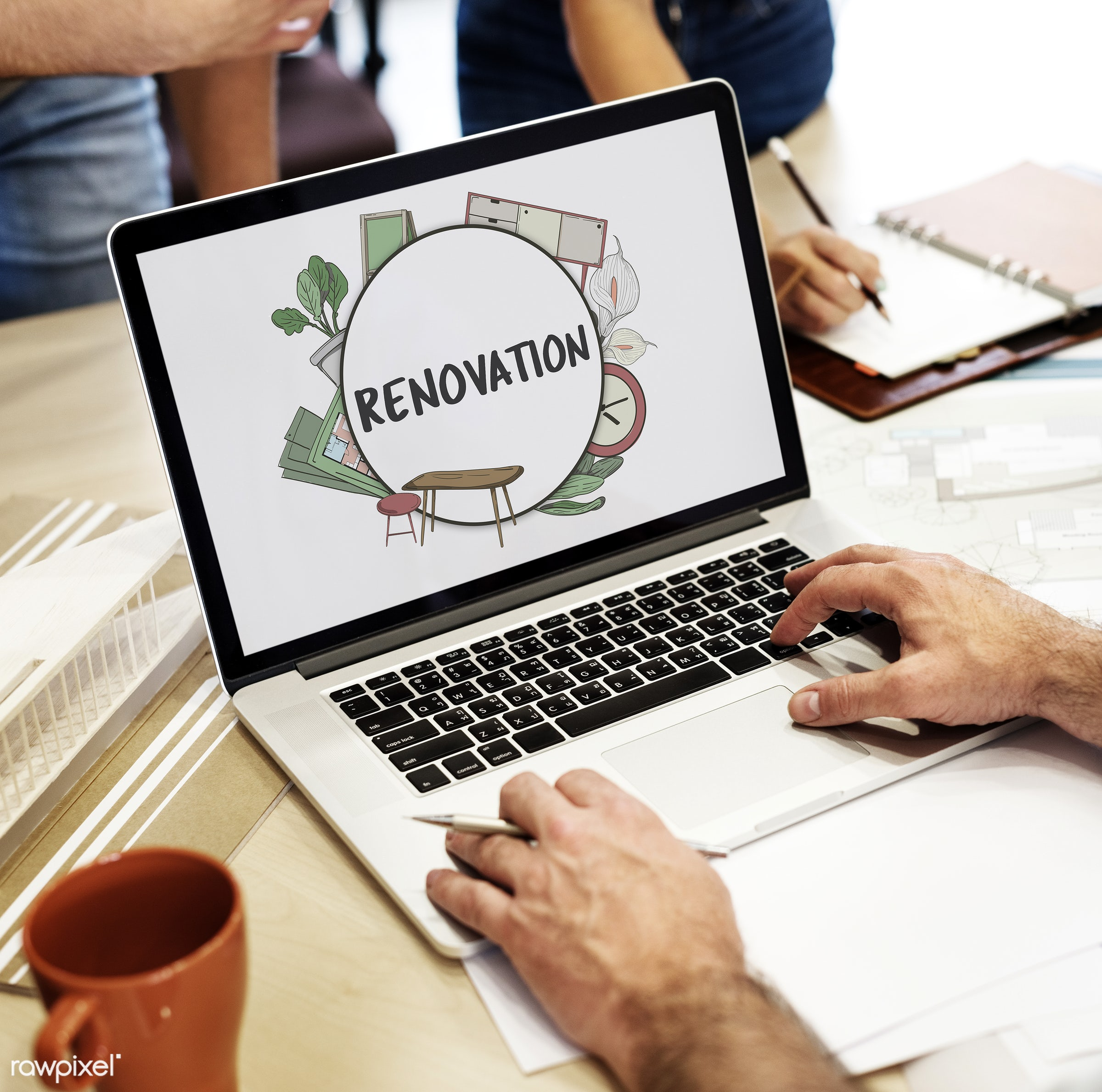 architect, architecture, art, blueprint, brush, coffee, coffee cup, construction, contemporary, cup, design, development,...