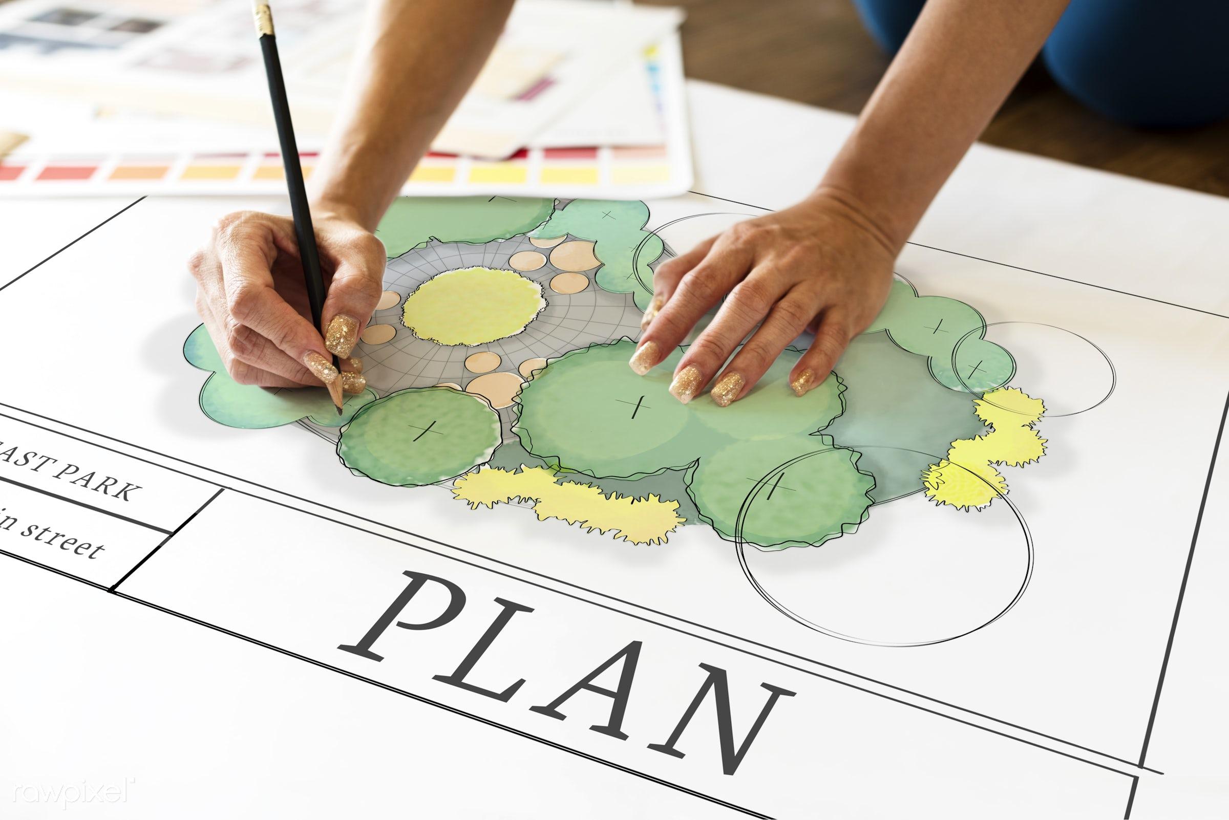 Design plan - map, architecture, art, concept, control, creation, creative, creativity, data, design, diagram, digital,...