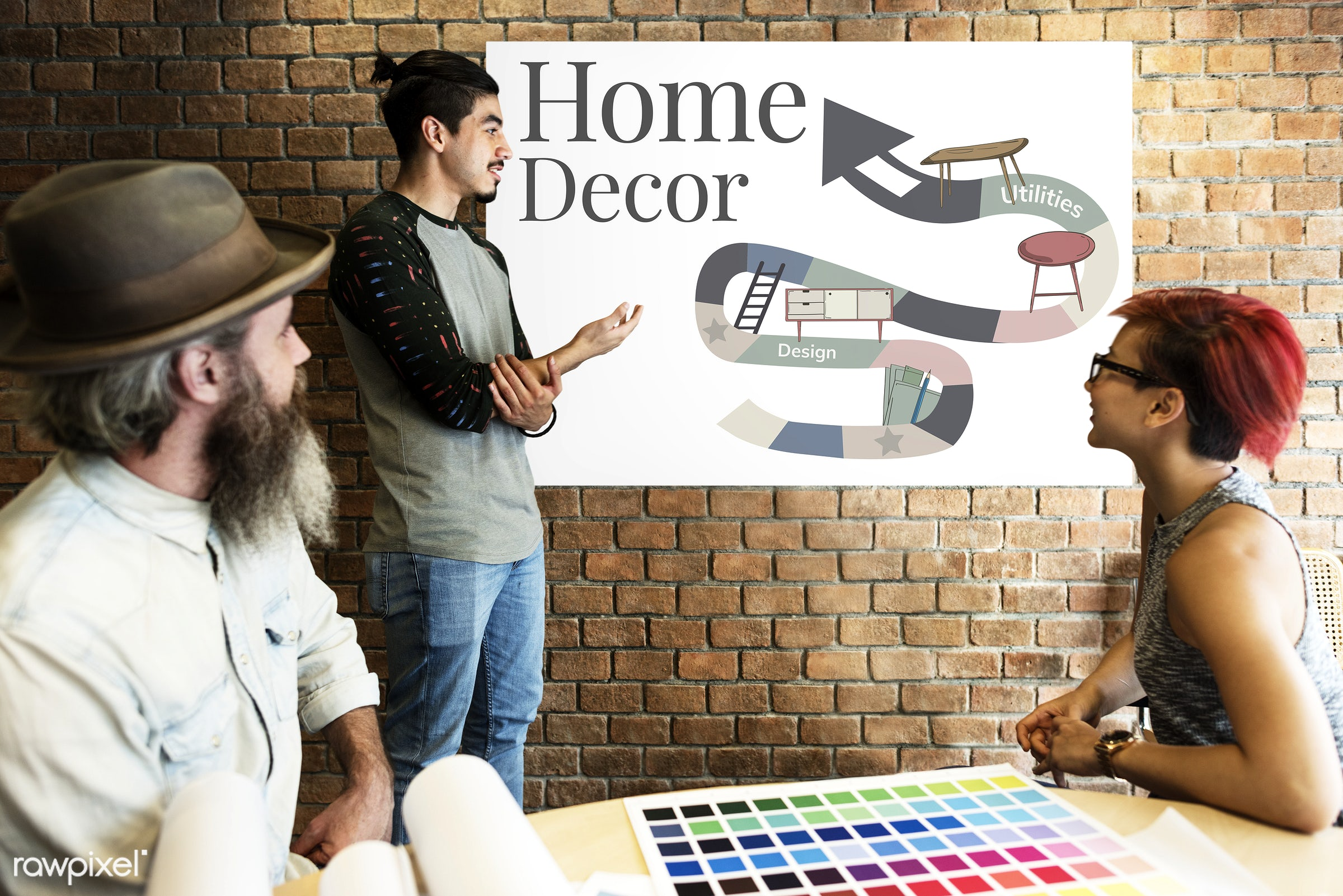 appliances, architecture, art, beard, board, brick wall, chart, color chart, colors, concept, creative, creativity, decor,...