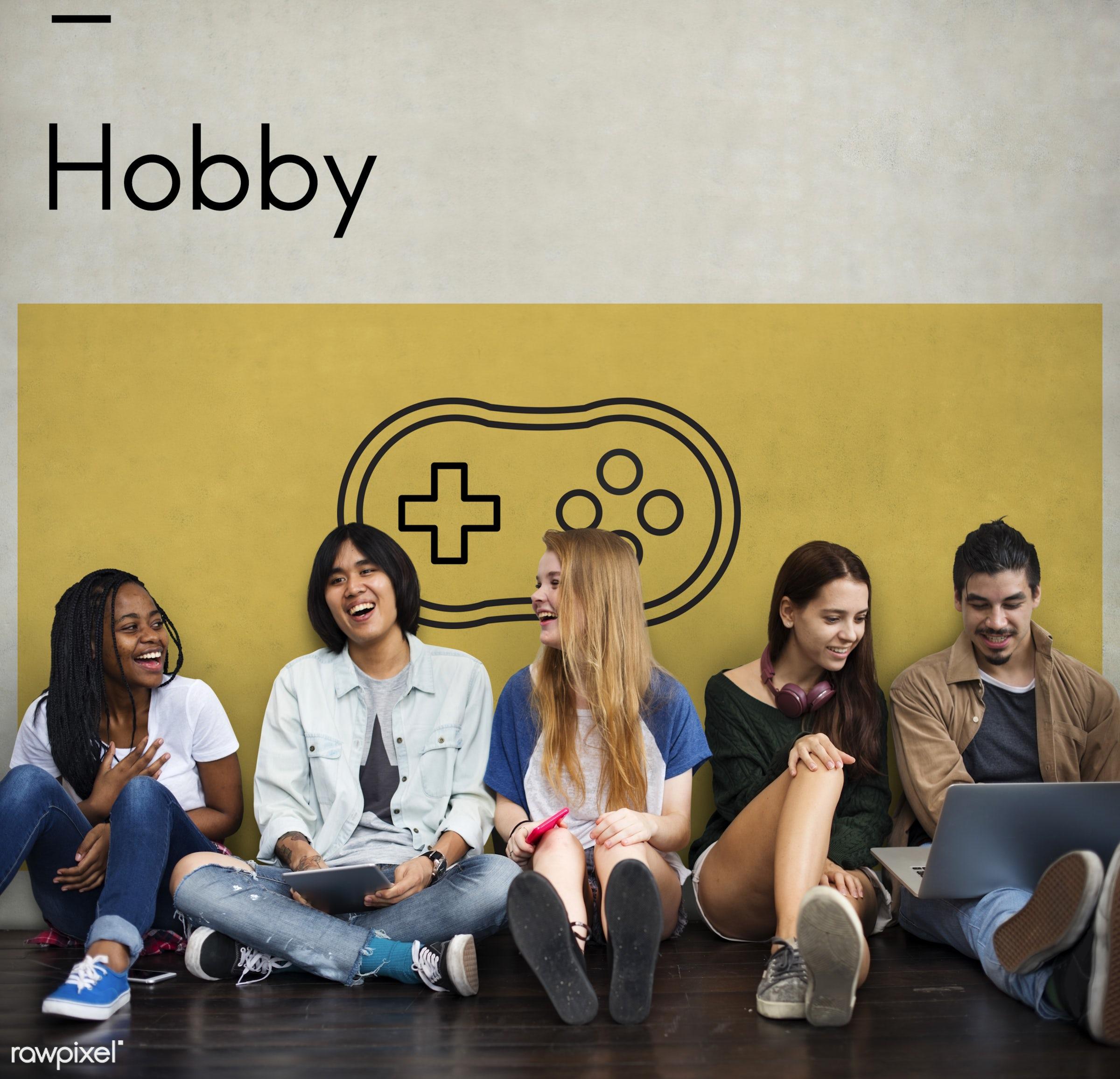 activity, african descent, asian, caucasian, device, devices, digital devices, diversity, enjoyment, entertainment, friends...