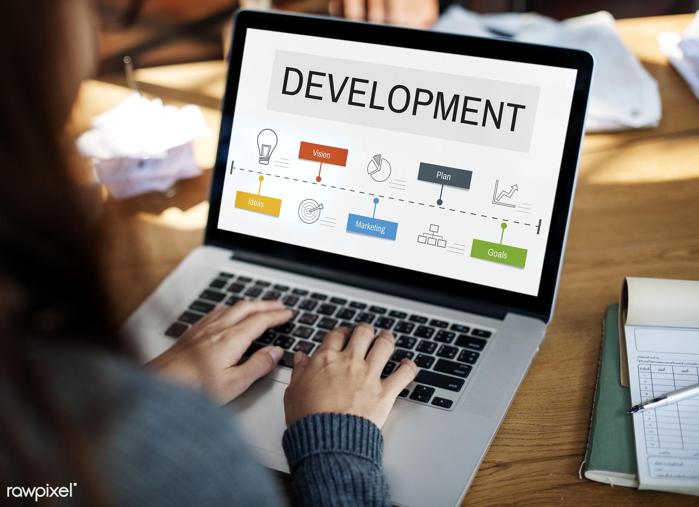 arrow, browsing, business, chart, concept, dartboard, design, development, device, digital, digital device, goals, graph,...