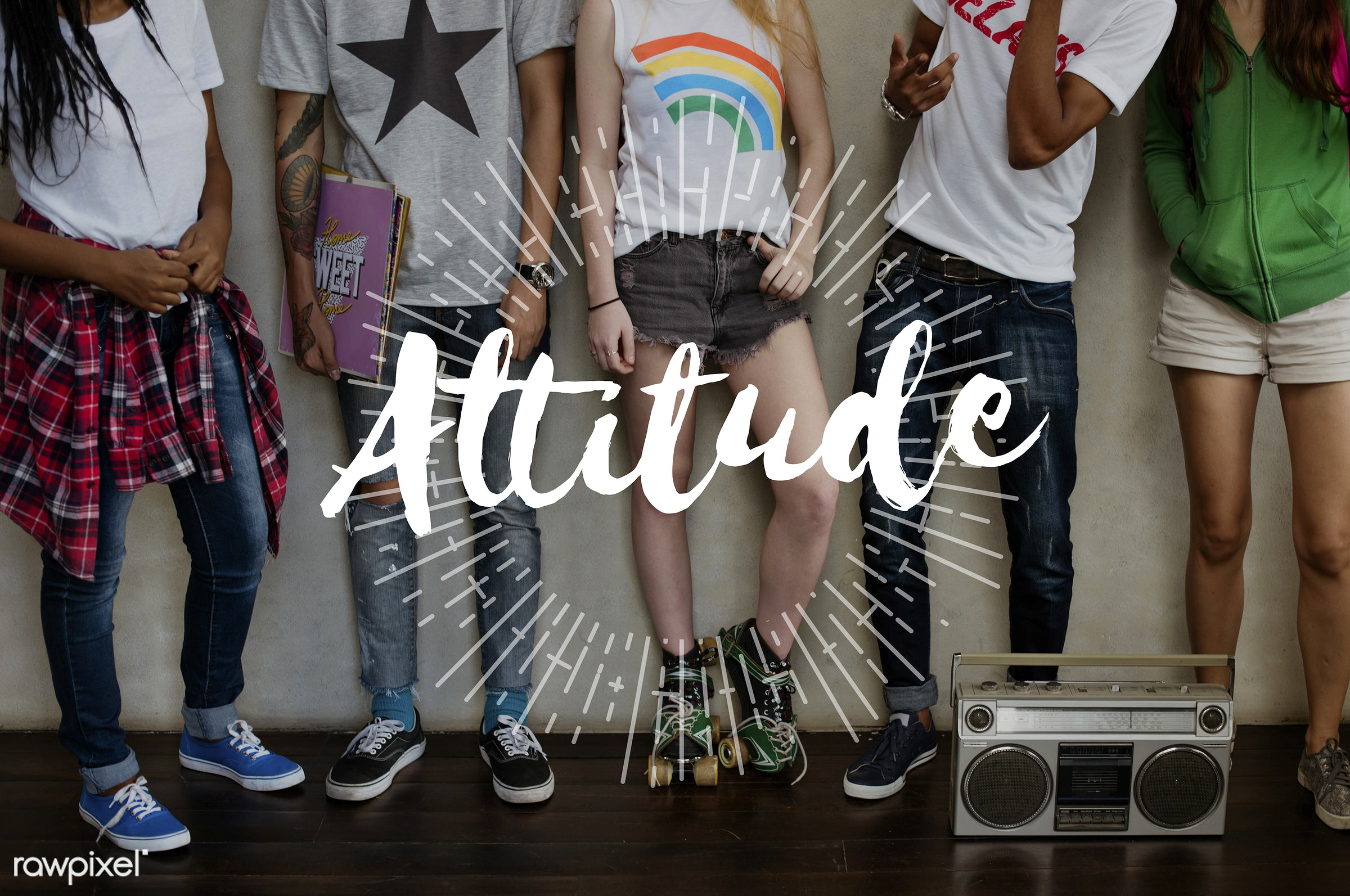 Youth attitude - trust, african descent, asian, attitude is everything, audio, balance, be grateful, be happy, caucasian,...