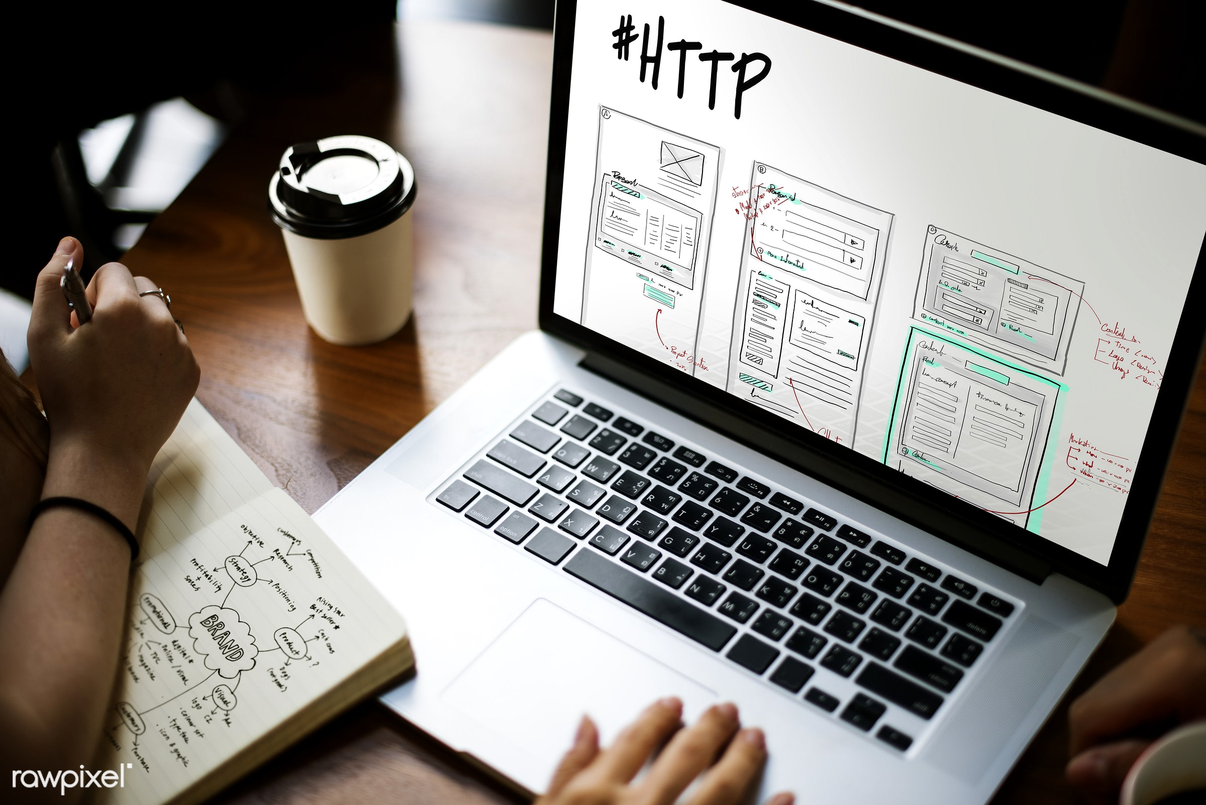 website, browser, browsing, coding, coffee cup, content, design, develop, device, digital, digital device, draft, drawing,...