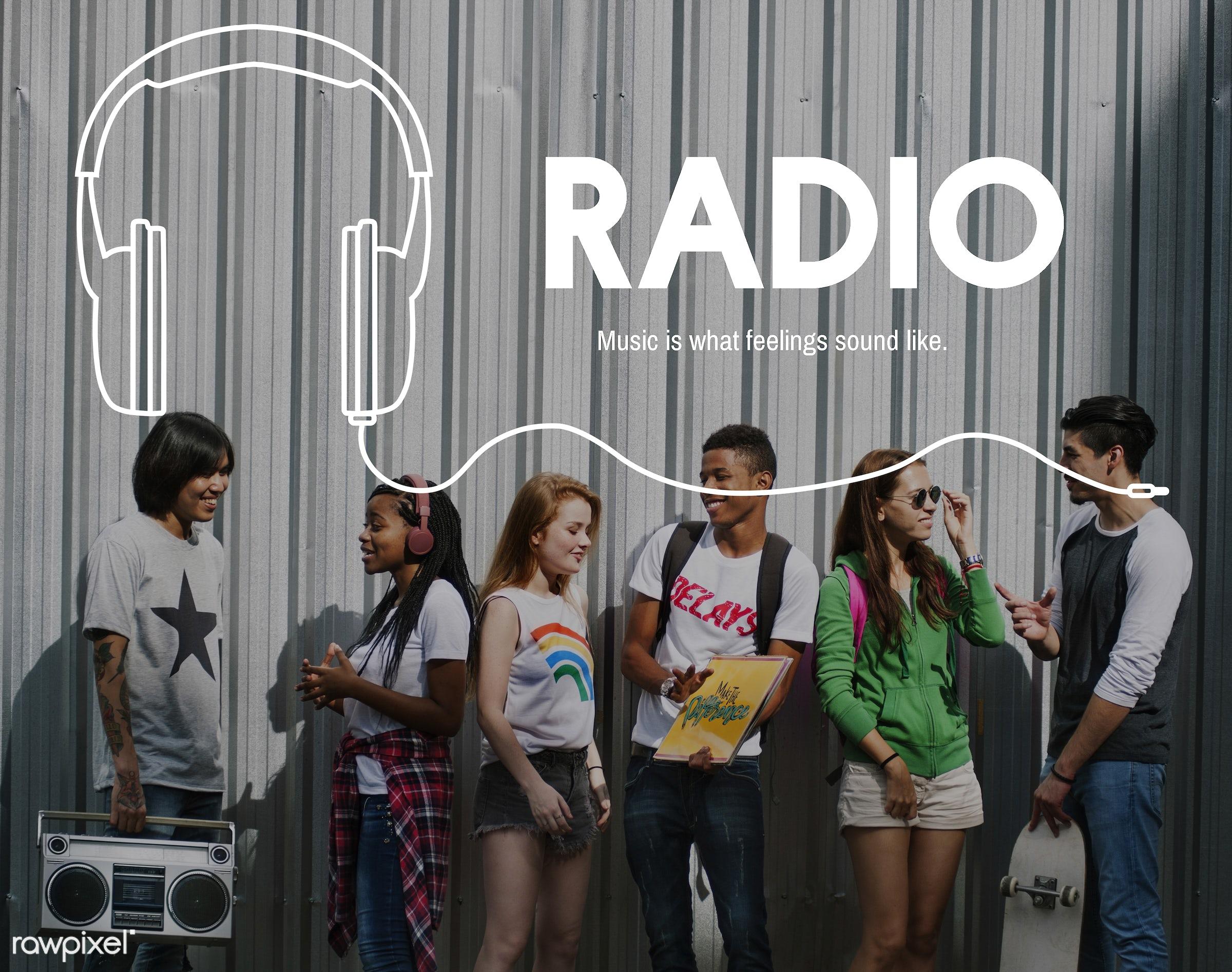 music, african descent, asian, audio, broadcast, caucasian, digital media, diversity, enjoyment, entertain, entertainment,...