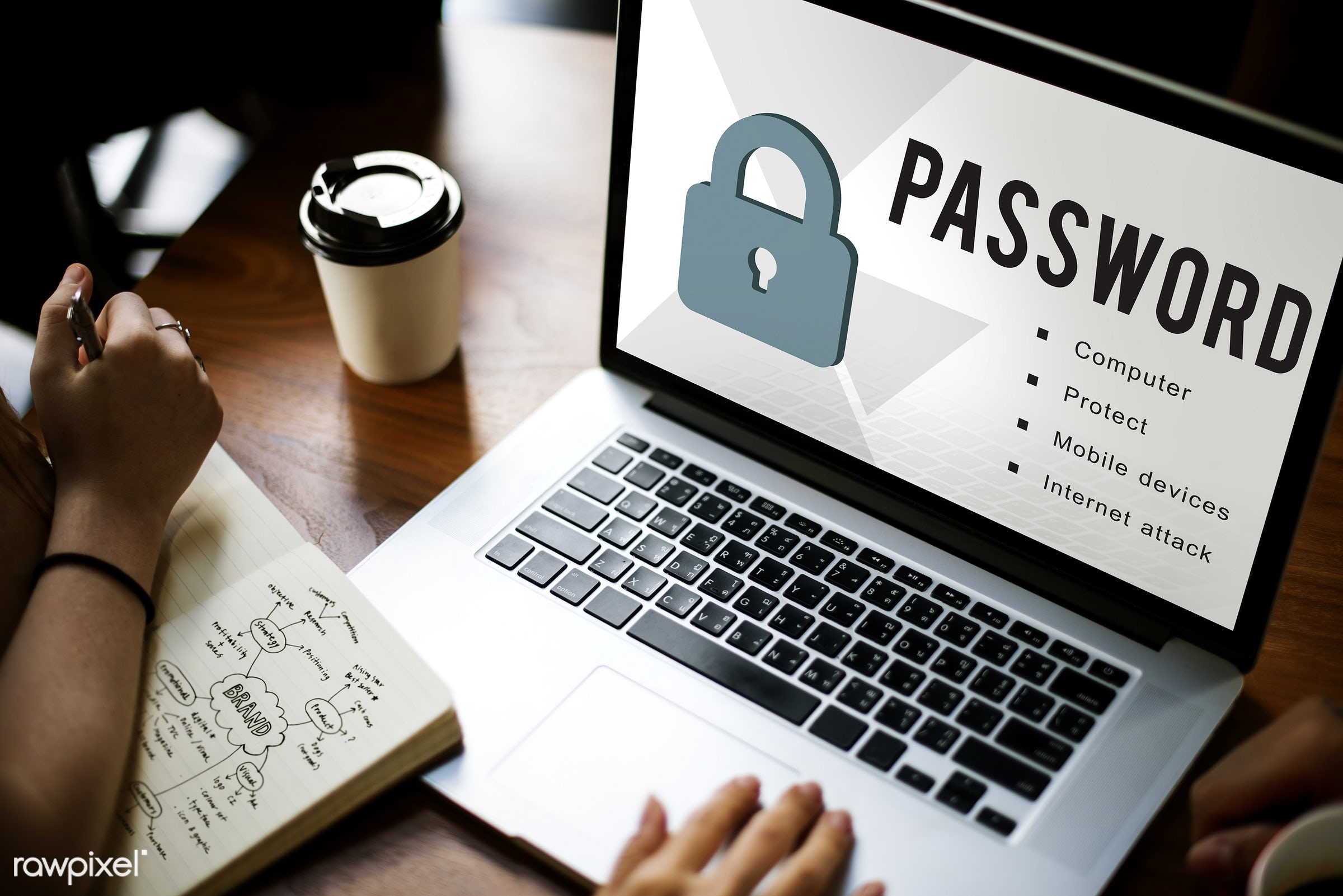 lock, application, attack, authorize, browsing, coffee cup, computer, data, device, devices, digital, digital device,...
