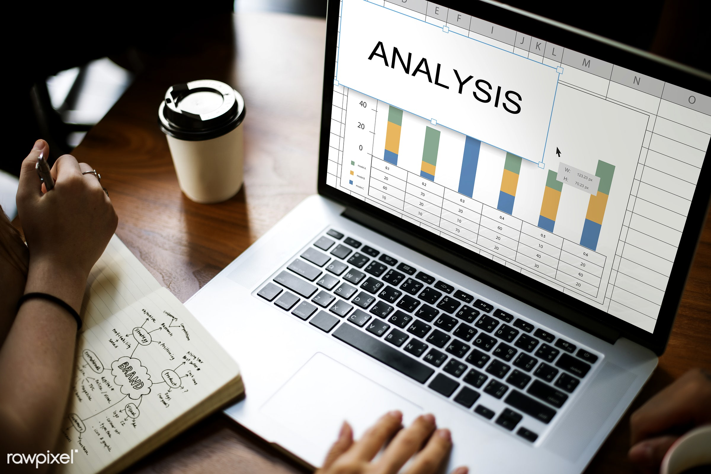 evaluation, solution, analysis, assessment, browsing, business, chart, coffee cup, development, device, digital, digital...