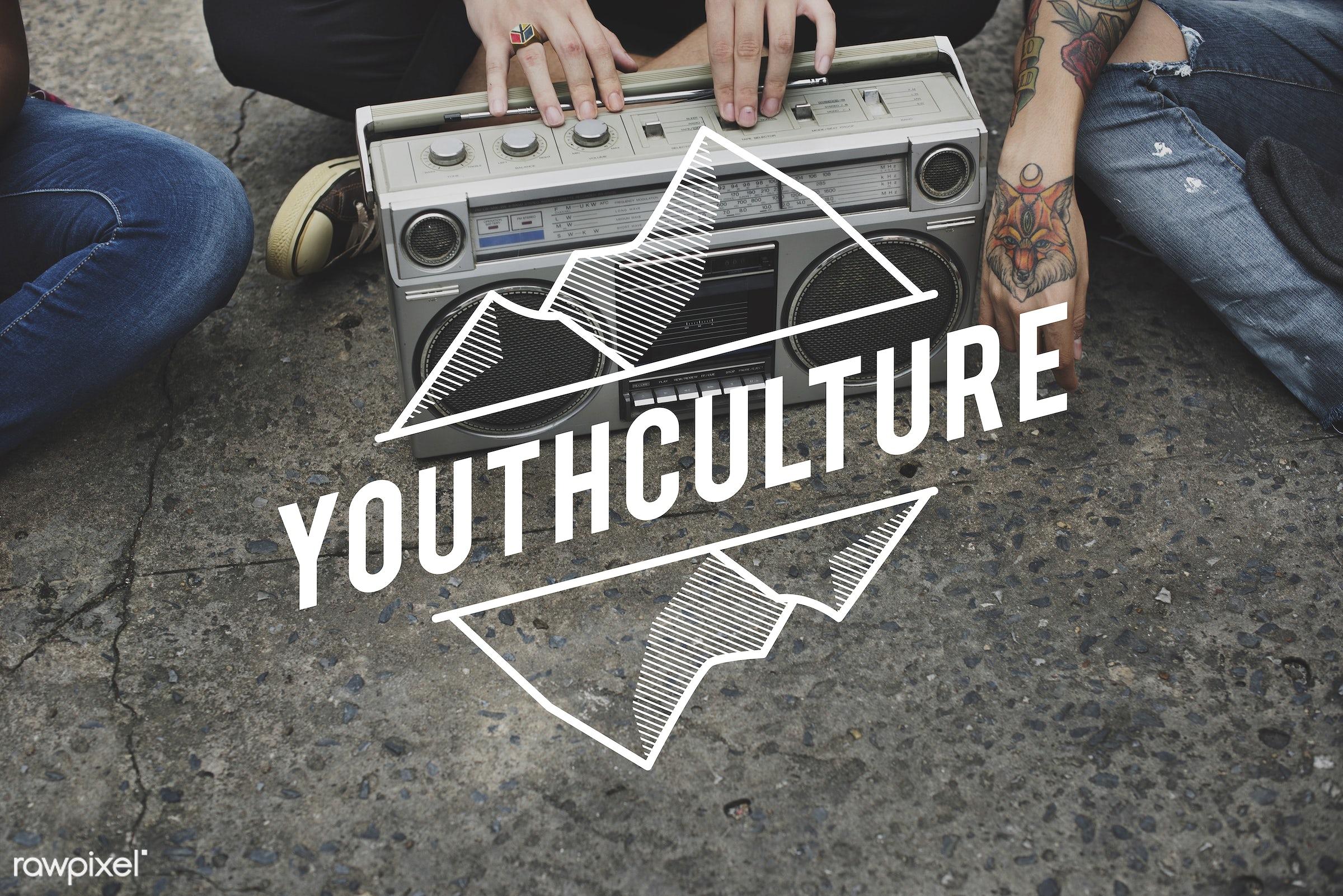 adolescence, attractive, audio, box, casual, cheerful, enjoyment, entertain, entertainment, fashion, generation, hands,...