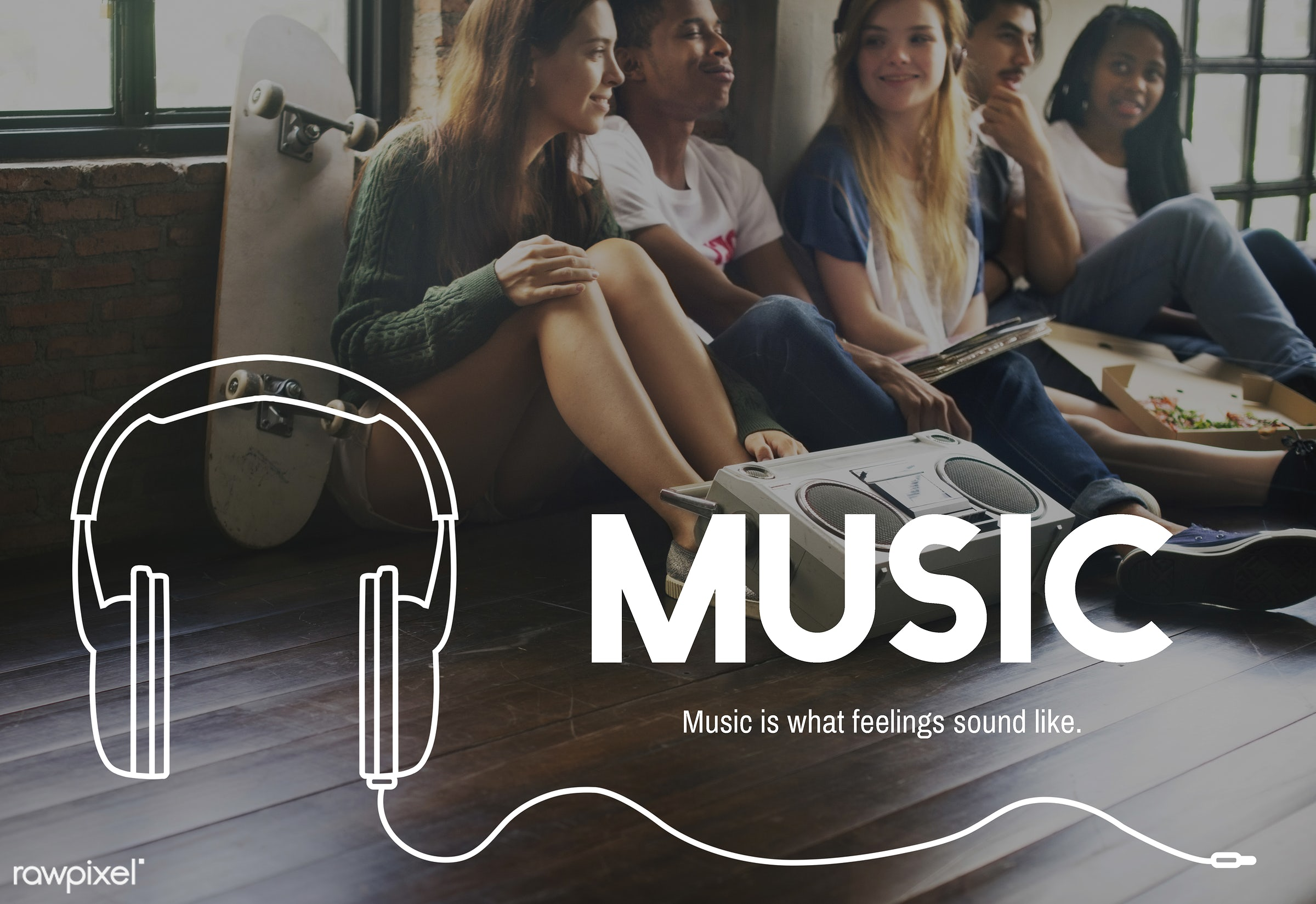 audio, broadcast, digital media, enjoy life, entertain, entertainment, friends, friendship, fun, graphic, hangout, headphone...