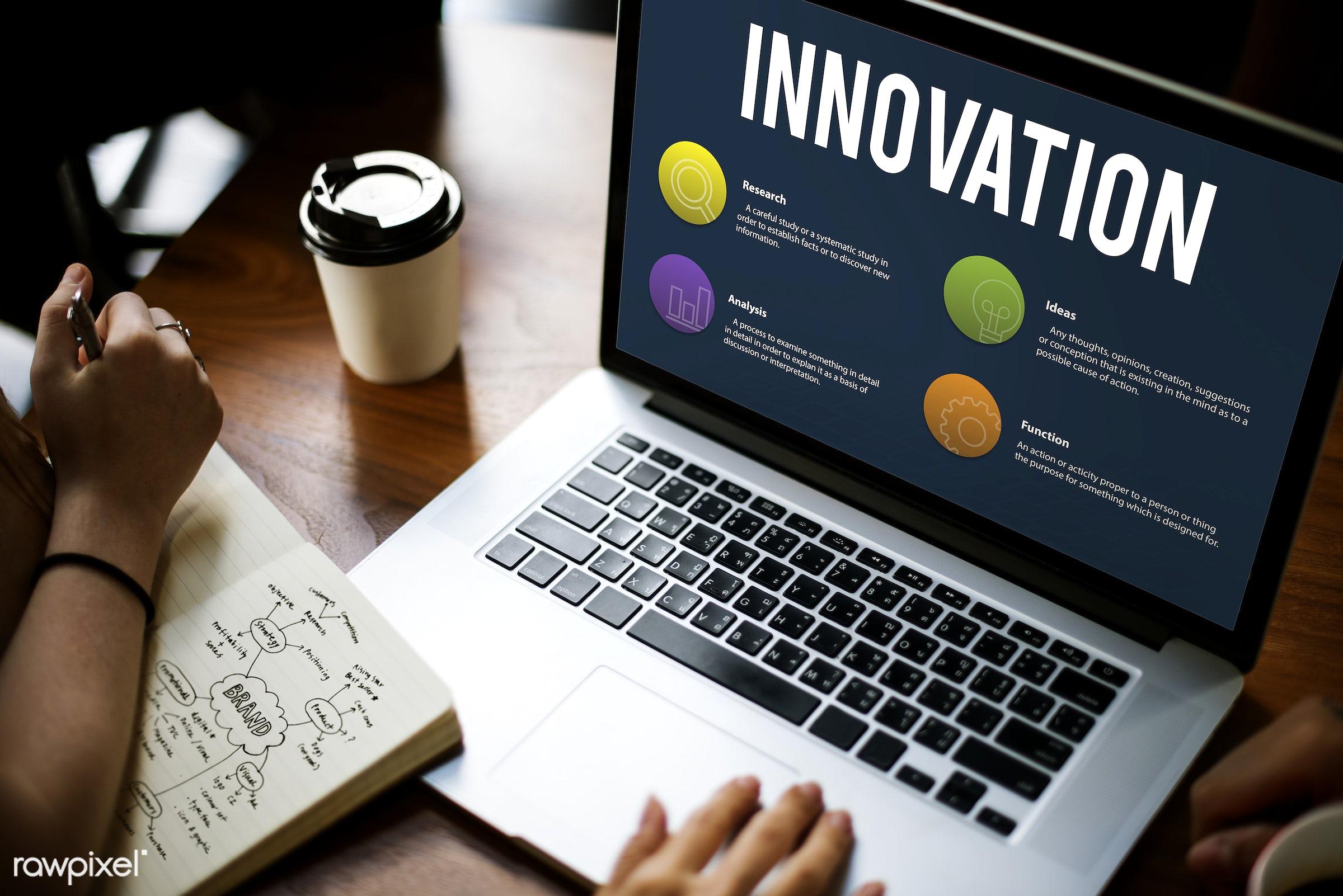 analysis, branding, browsing, business, coffee cup, development, device, digital, digital device, function, goals, hands,...