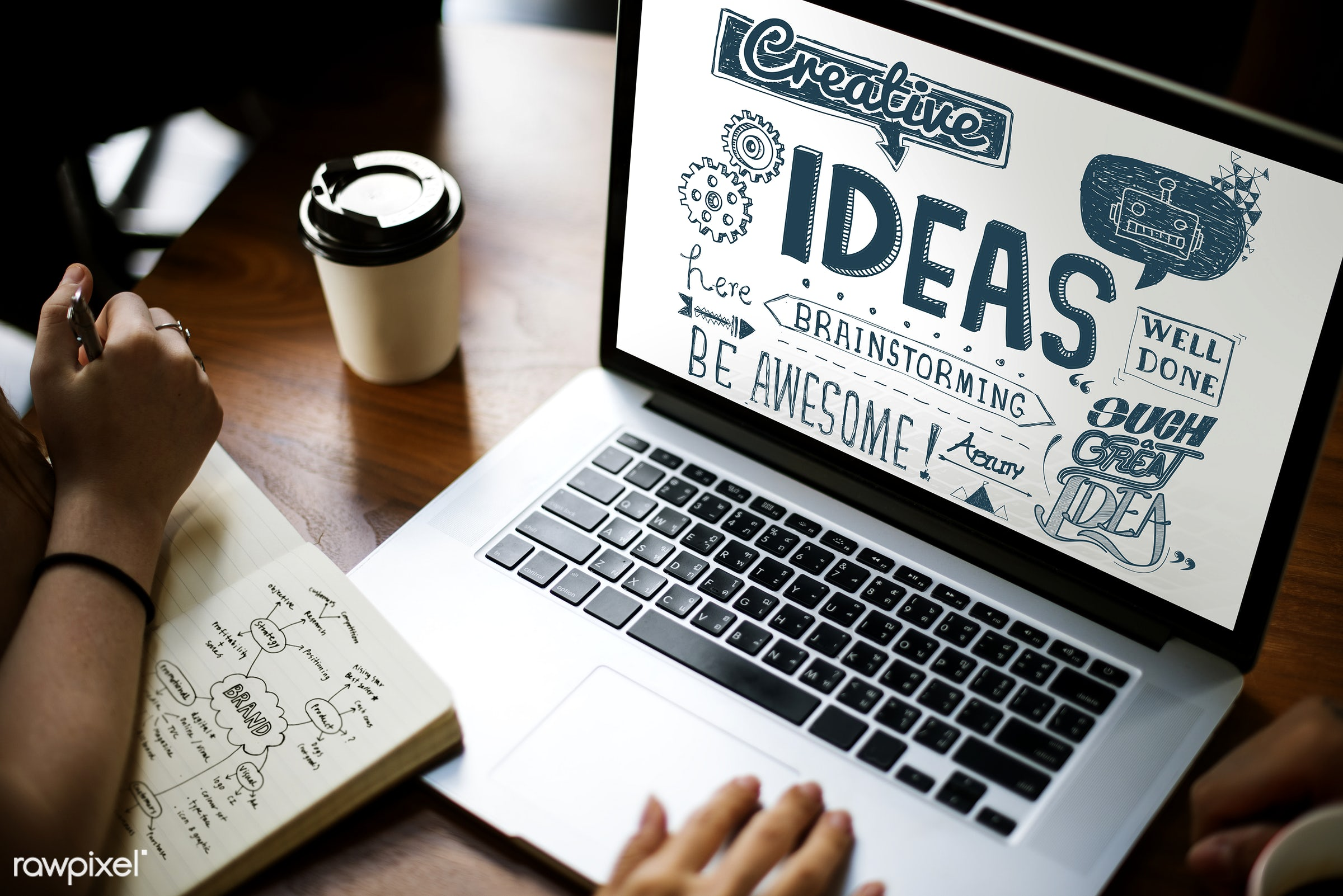 awesome, brainstorming, browsing, business, coffee cup, creative, creativity, device, digital, digital device, graphics,...