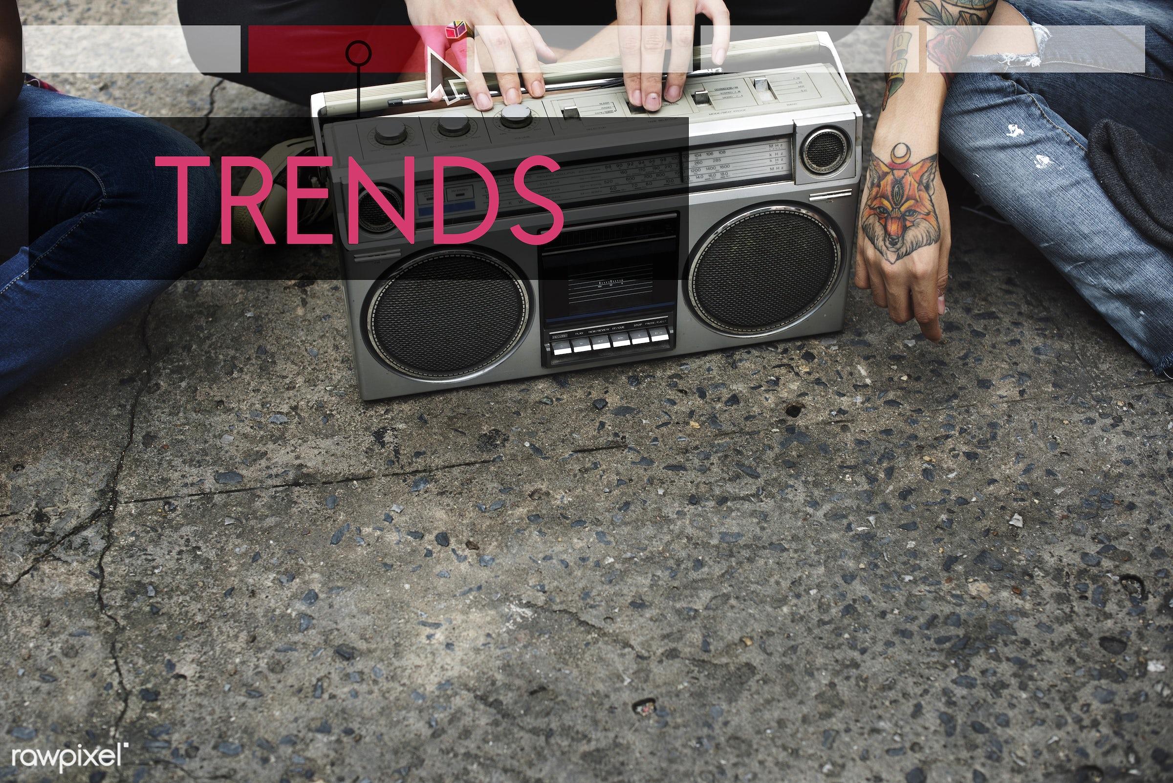 audio, box, design, enjoyment, entertain, entertainment, fashion, forecast, hands, hold, holding, hot, in, latest, leisure,...