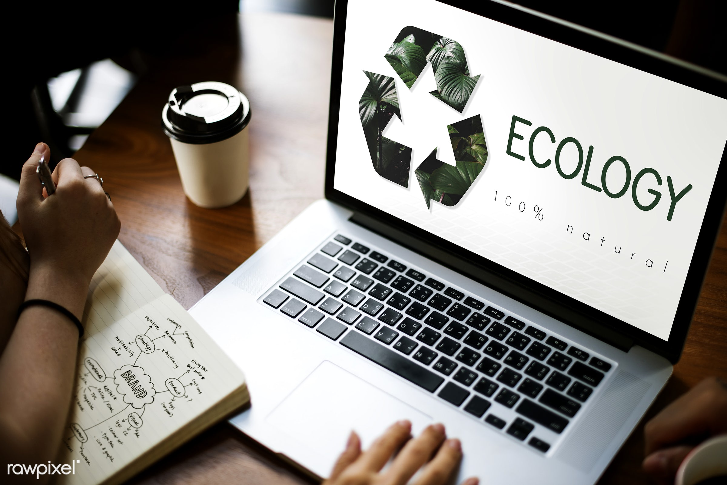 arrows, browsing, coffee cup, conservation, device, digital, digital device, earth, eco friendly, ecology, environment,...