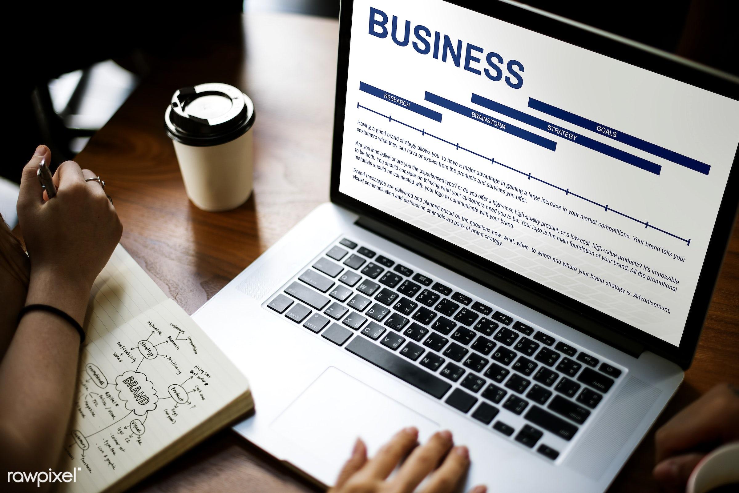 advertising, brainstorm, brand, branding, browsing, business, coffee cup, creation, creative, creativity, design, device,...