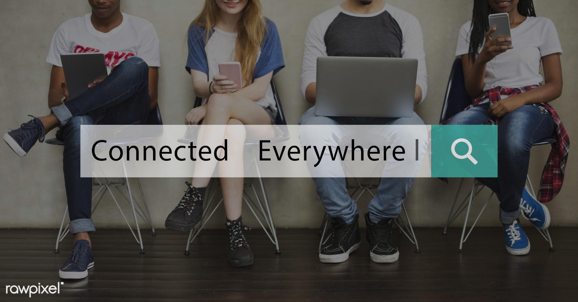caucasian, advanced, african descent, asian, cellphone, communicate, communication, community, connect, connection, devices...