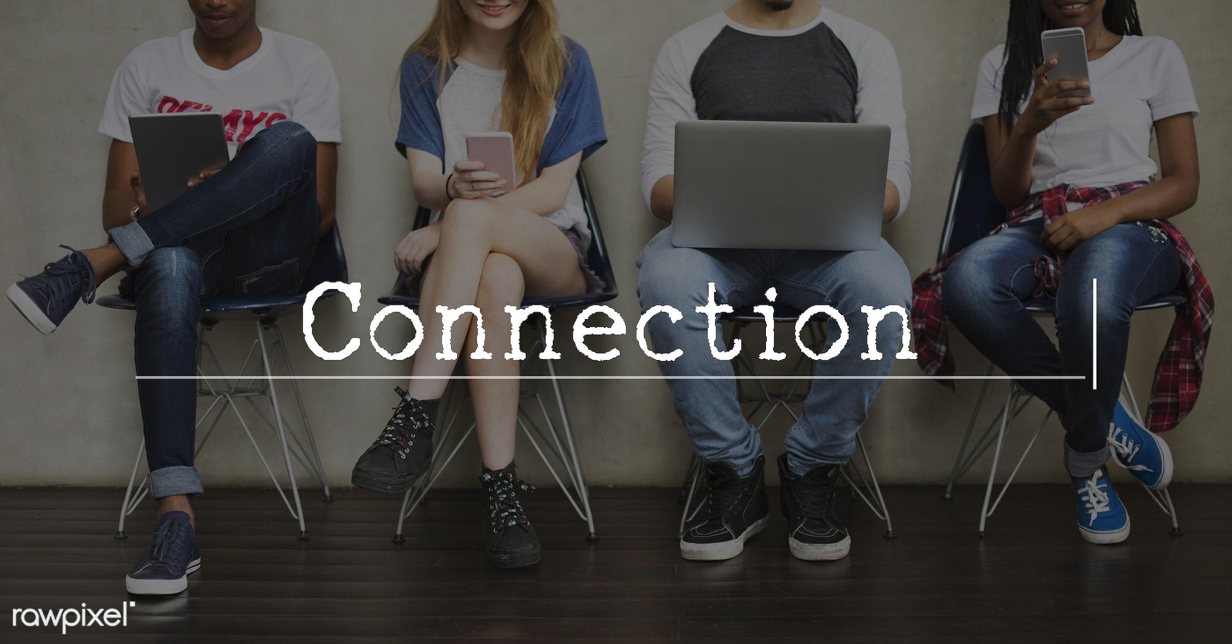 caucasian, african descent, asian, business, cellphone, cloud, communication, connection, data, database, devices, digital,...