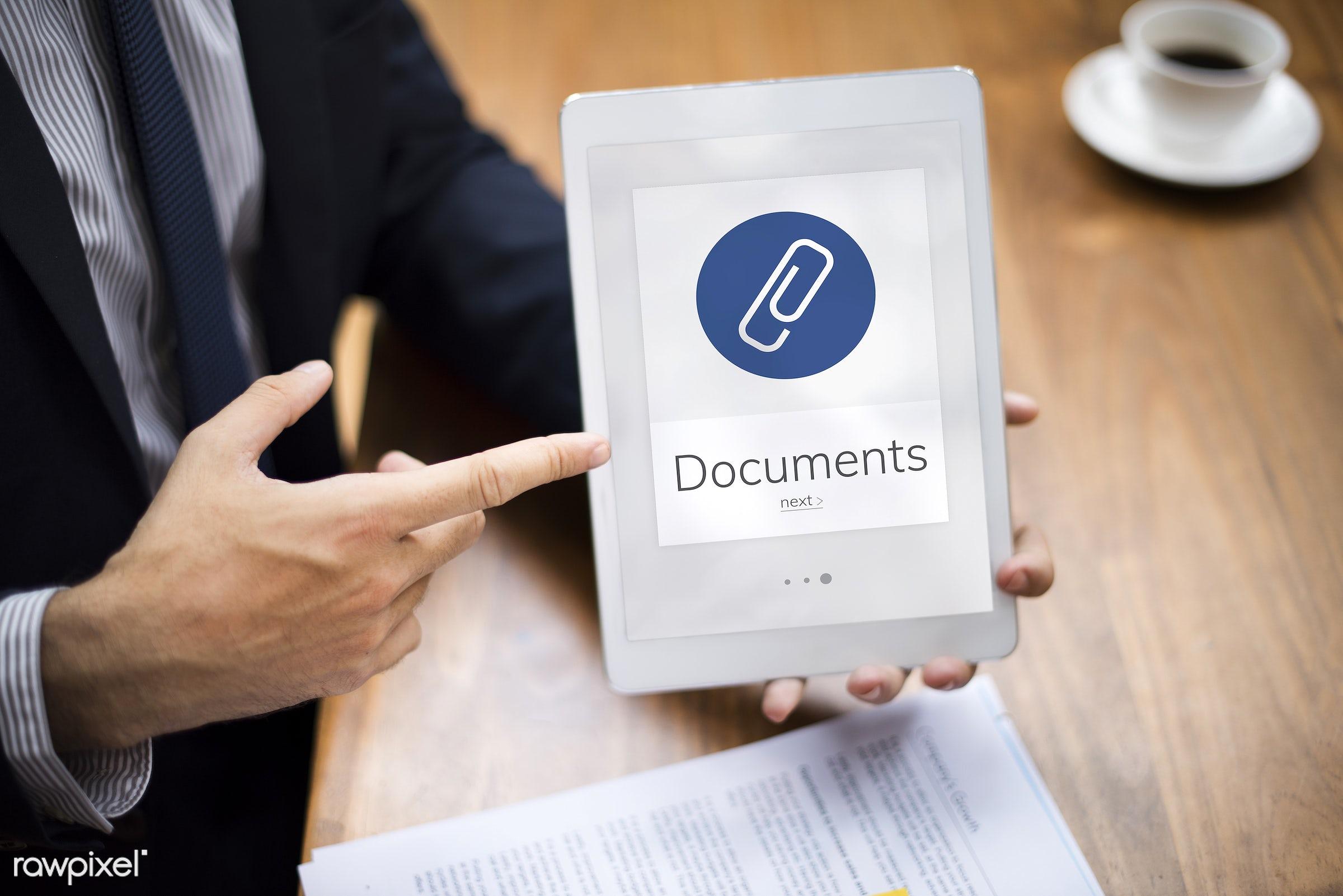 addition, asian, attach, attached, attached file, attachment, business, businessmen, businesswomen, clip, devices, digital,...