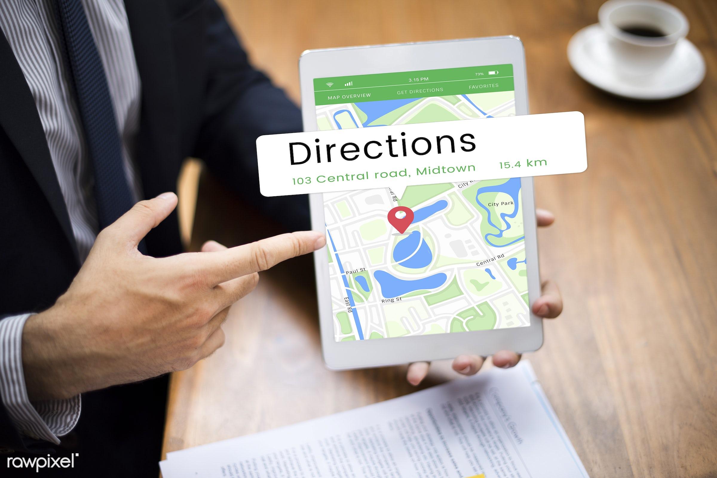 map, asian, business, businessmen, businesswomen, destination, devices, digital, digital device, digital tablet, direction,...