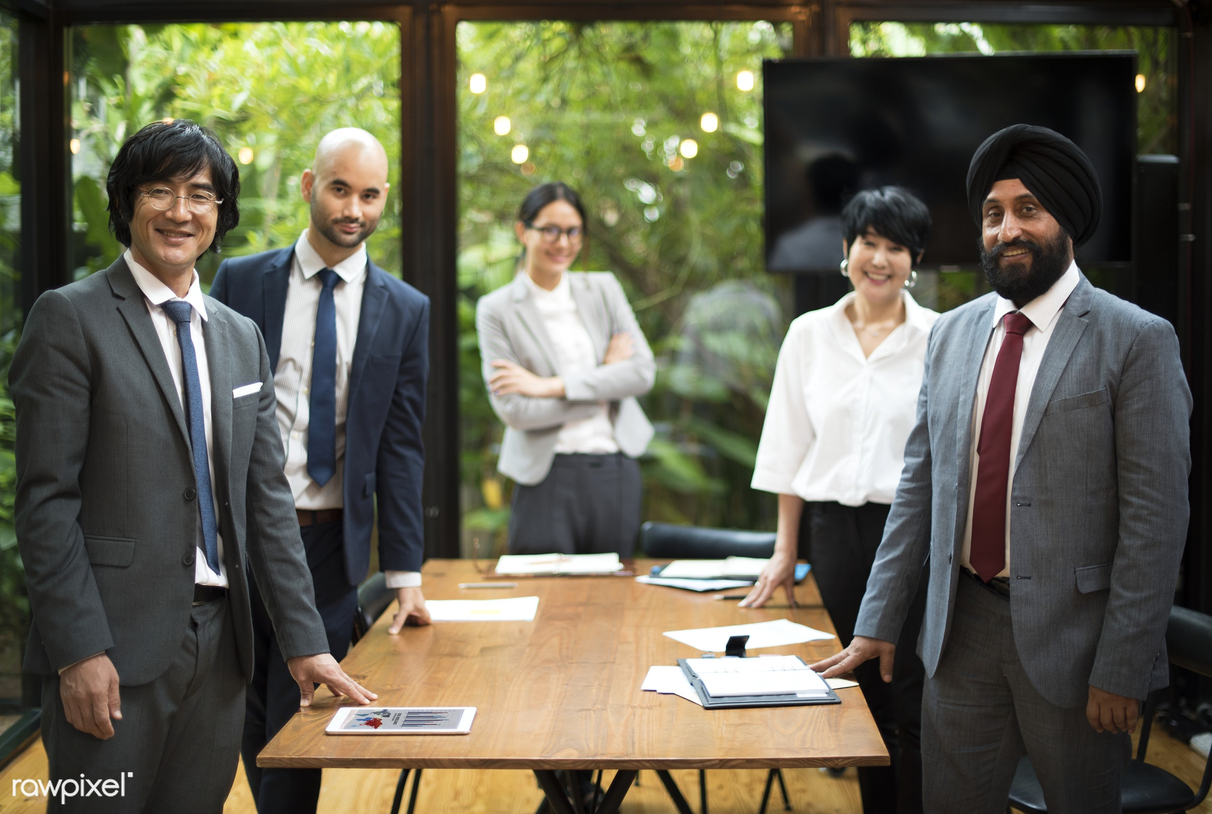 Business meeting in Asia - leader, asian, asian ethnicity, board room, brainstorming, business, business people, business...