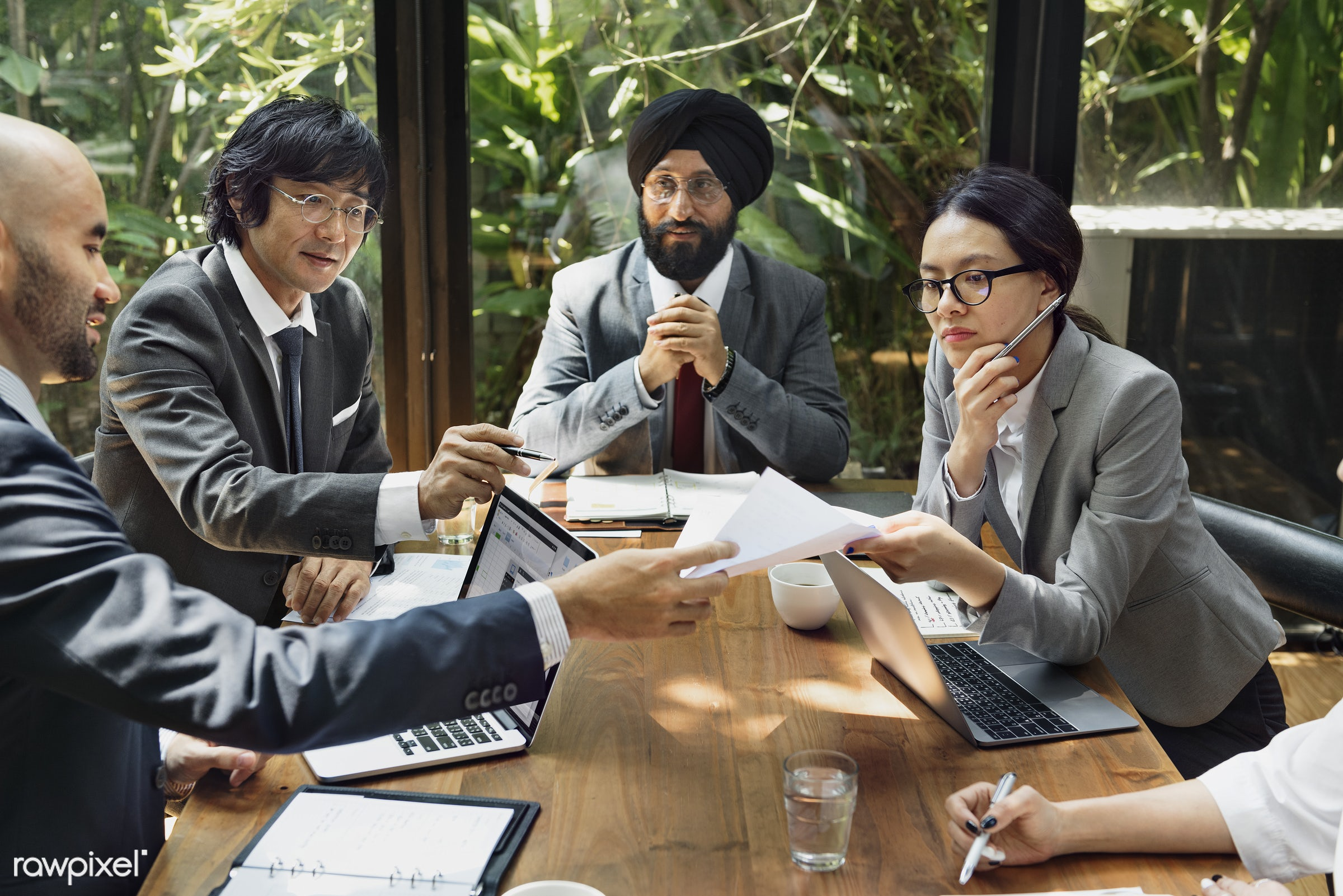 Business meeting in Asia - asia, asian, asian ethnicity, board room, brainstorming, business, business people, business plan...