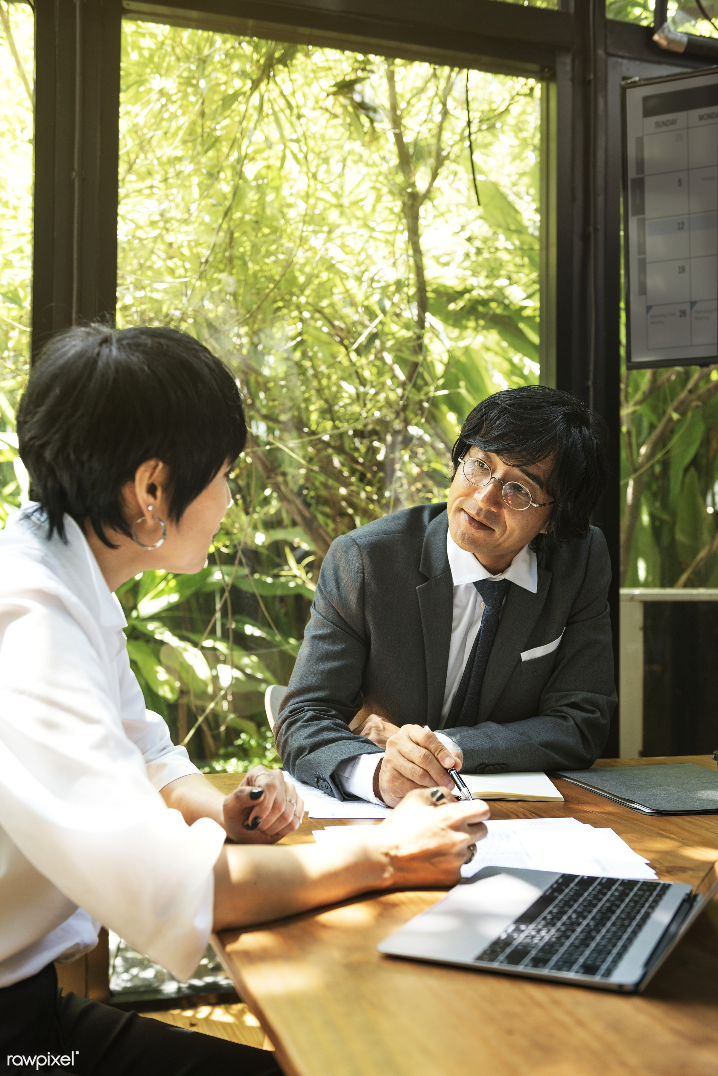 Business meeting in Asia - asian, asian ethnicity, board room, brainstorming, business, business people, business plan,...
