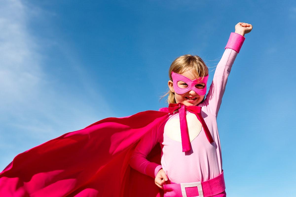 Cute little superhero girl