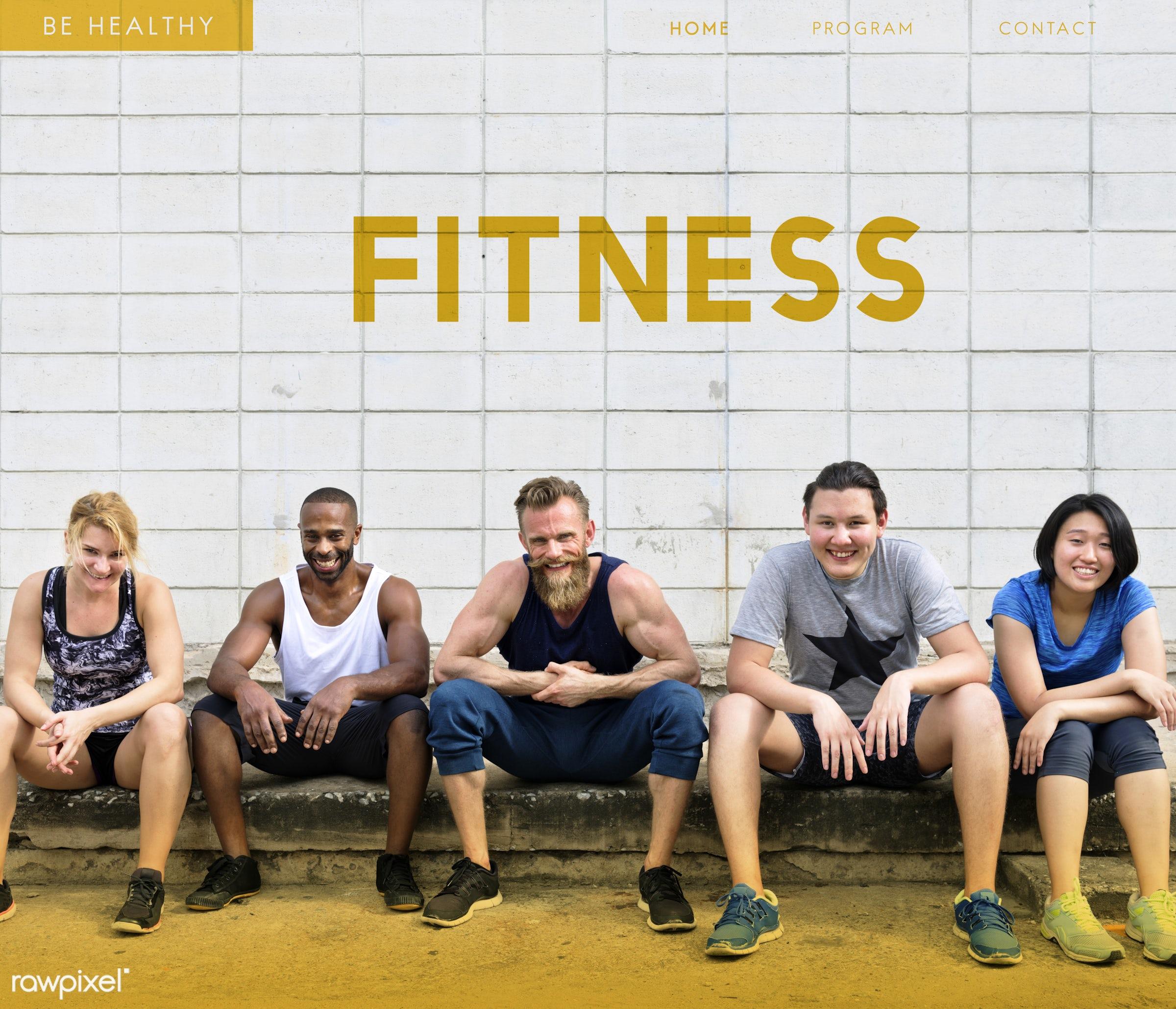 activity, aerobics, african descent, asian, athletic, balance, cardio, caucasian, diversity, enjoy, exercise, female, fit,...