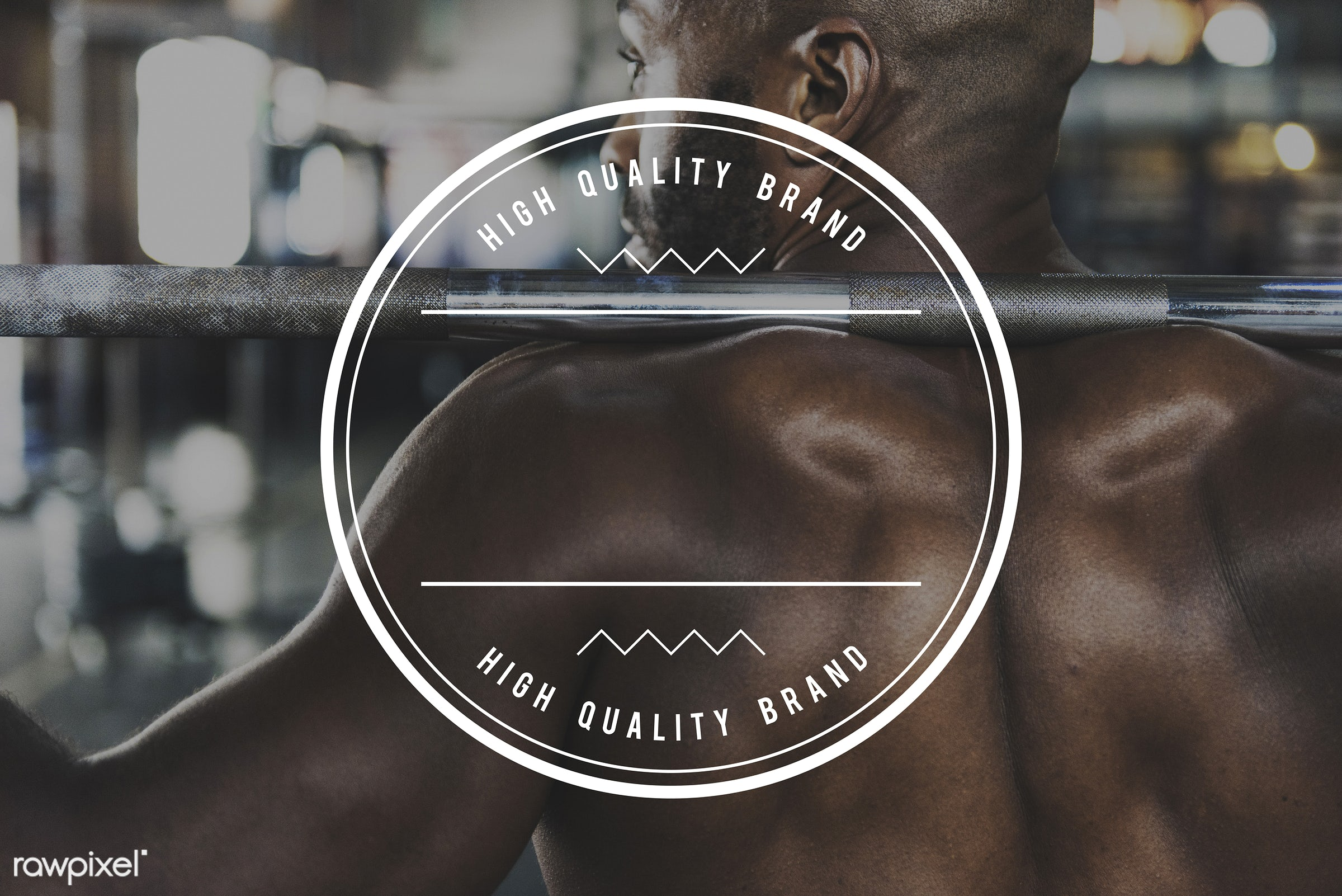 brand, advertisement, african descent, badge, banner, barbell, black, black people, blank, branding, business, commercial,...