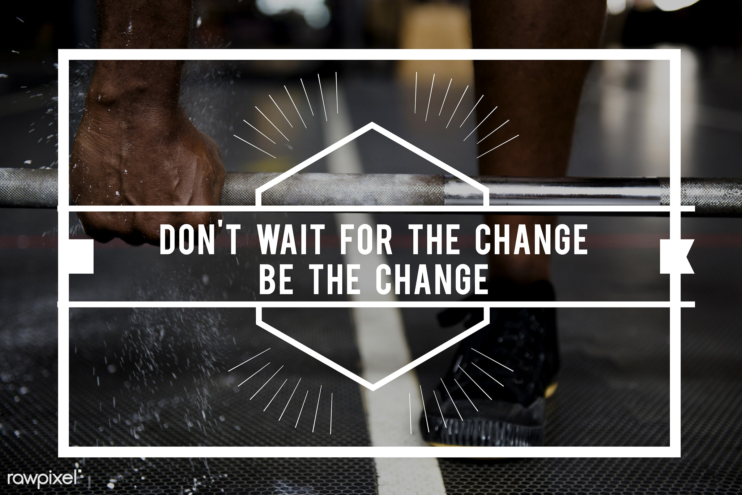 change, gym, fitness, activity, african descent, barbell, be, black, black people, body, build, challenge, daily, don't wait...